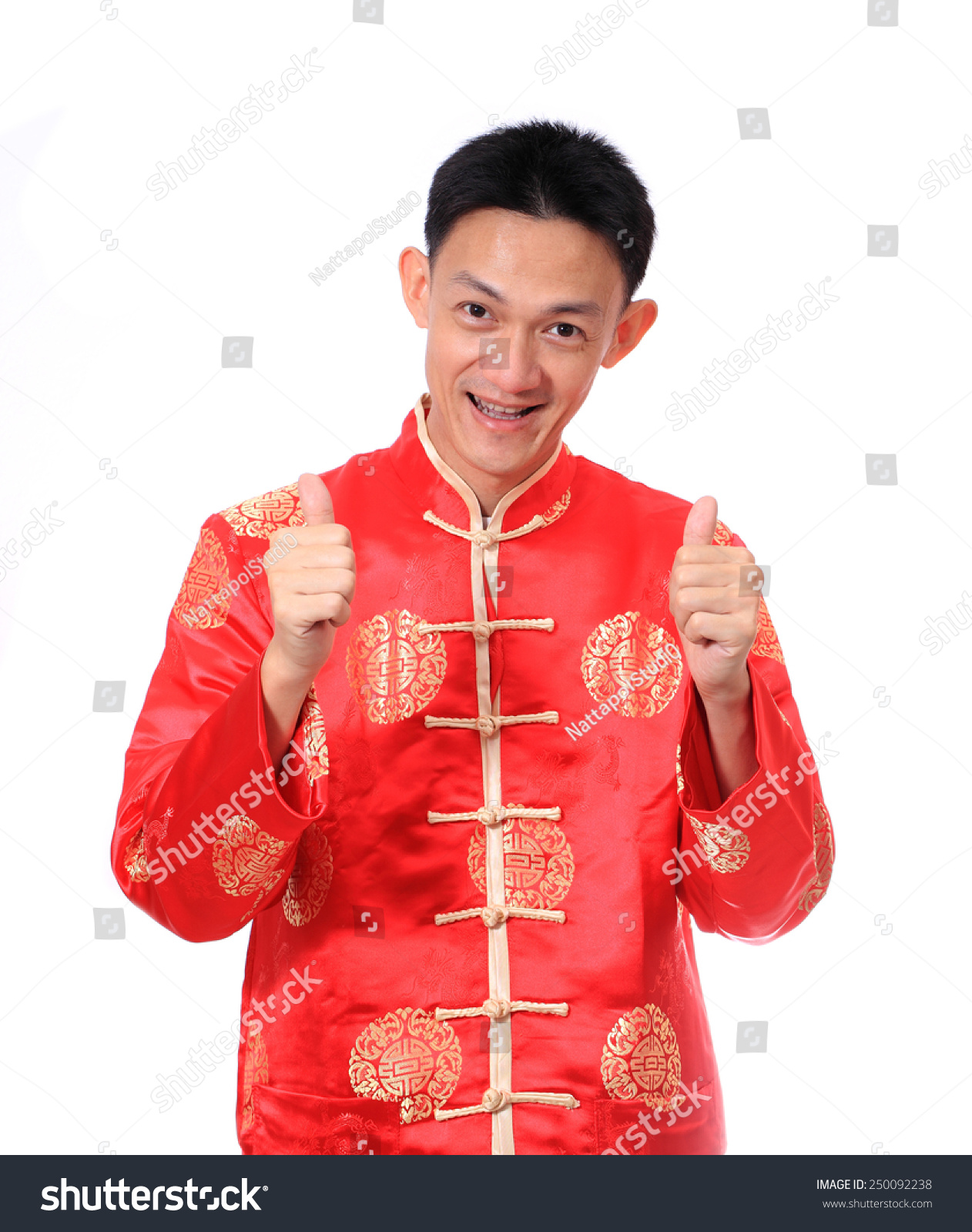 Happy Chinese New Year Young Asian Man Stock Photo (Edit Now
