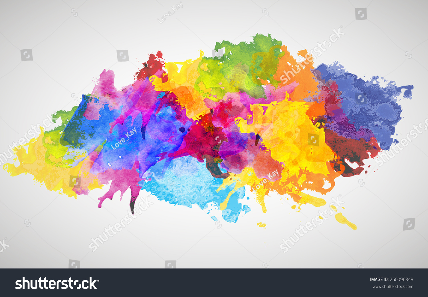 Colorful watercolor splash ~ Abstract Photos on Creative ...  Colorful Watercolor Splash