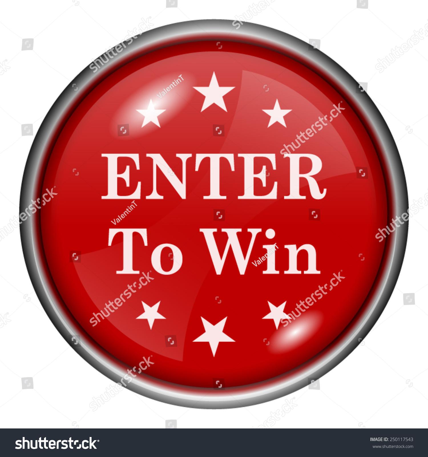 Enter Win Icon Internet Button On Stock Vector 252105907 ...