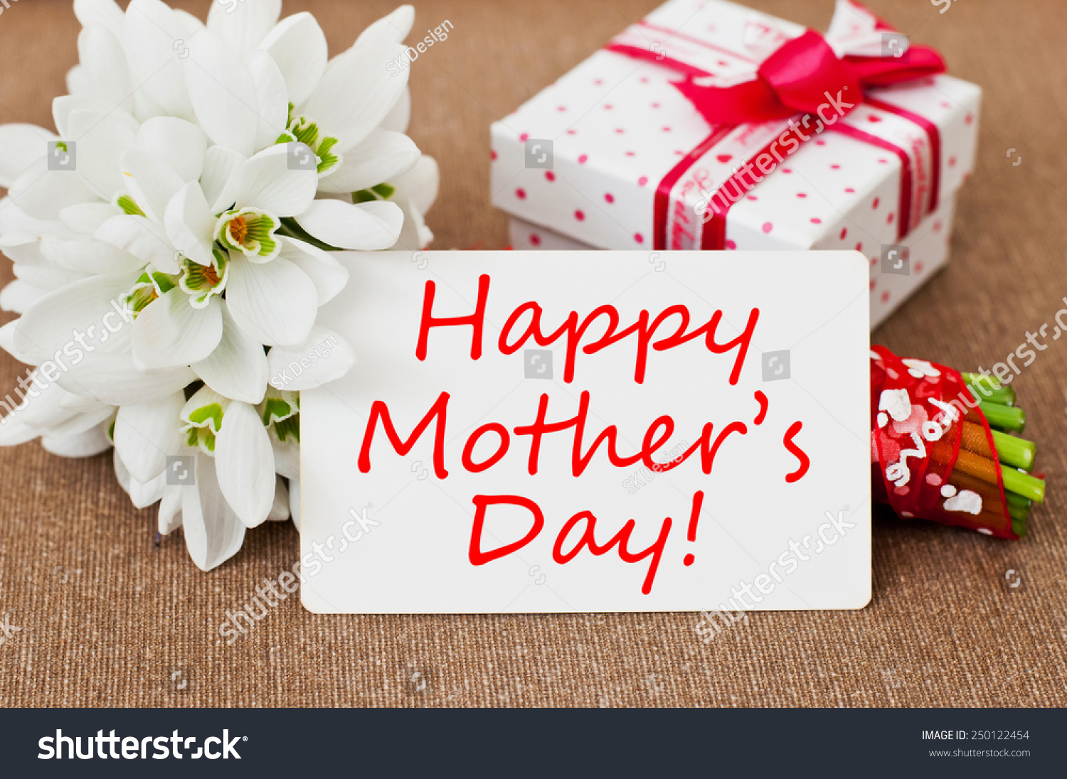 Happy Mothers Day Message Written Greeting Stock Photo Royalty Free