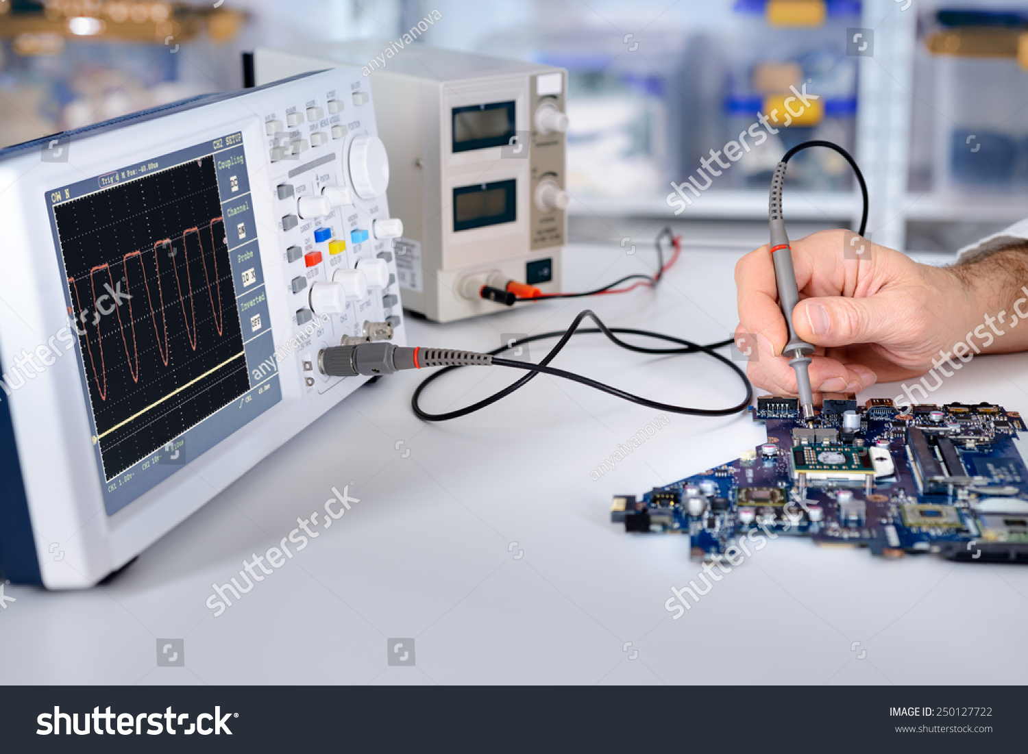 Motherboard Repair Oscilloscope Lcr Meter Electro Science Industries For Sale Electroniccircuits