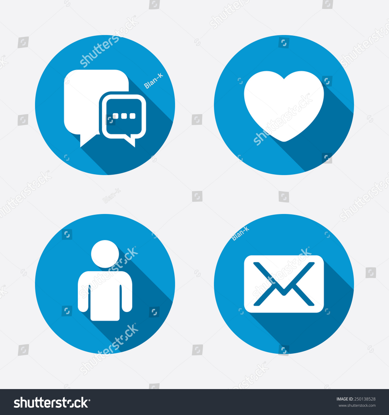 Social Media Icons Chat Speech Bubble Stock Vector Royalty Free