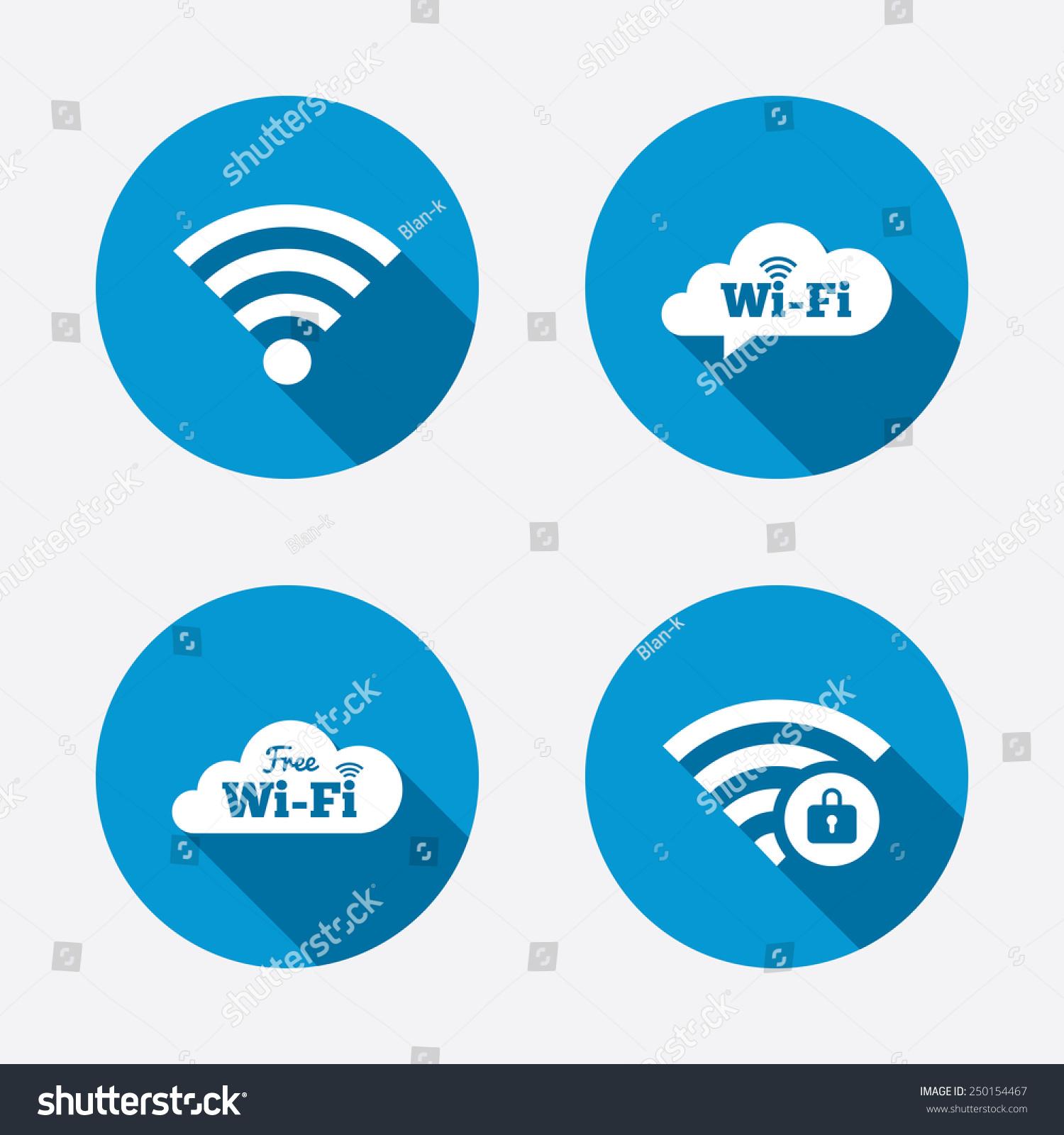 free wifi wireless network cloud speech stock vector 250154467