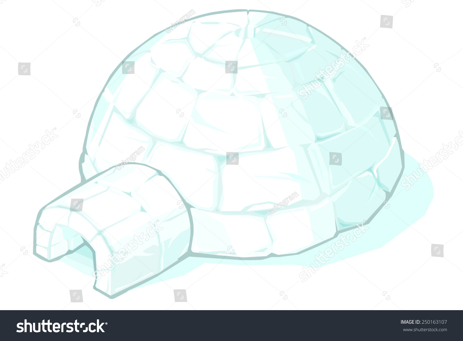 Vector illustration igloo igloo igloo house stock vector 250163107 vector illustration of an igloo igloo igloo house made from ice blocks pooptronica