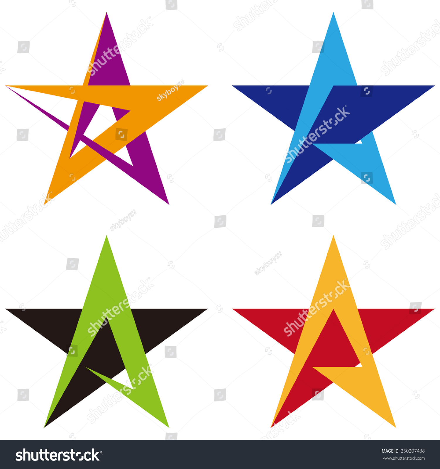 star vector design logo template a stock vector 250207438