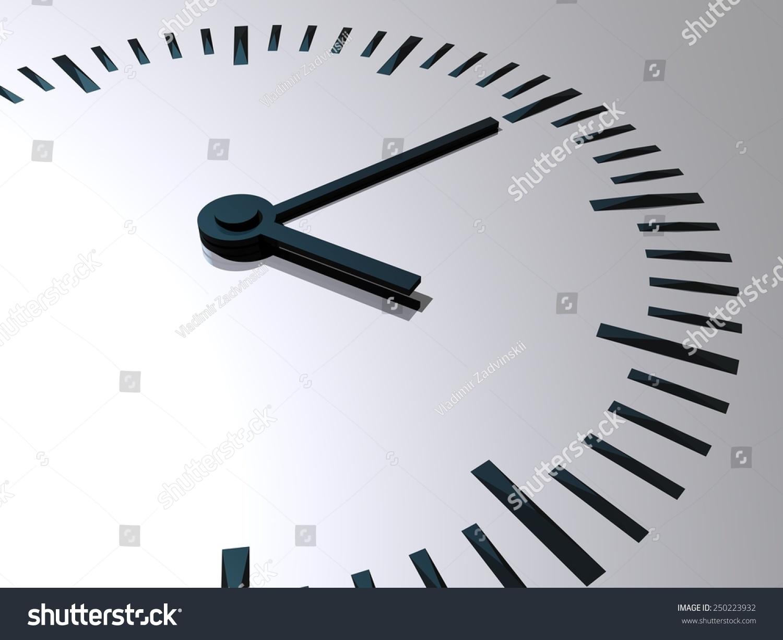 Clock Clock Hands Symbol Time 3 D Stock Illustration 250223932