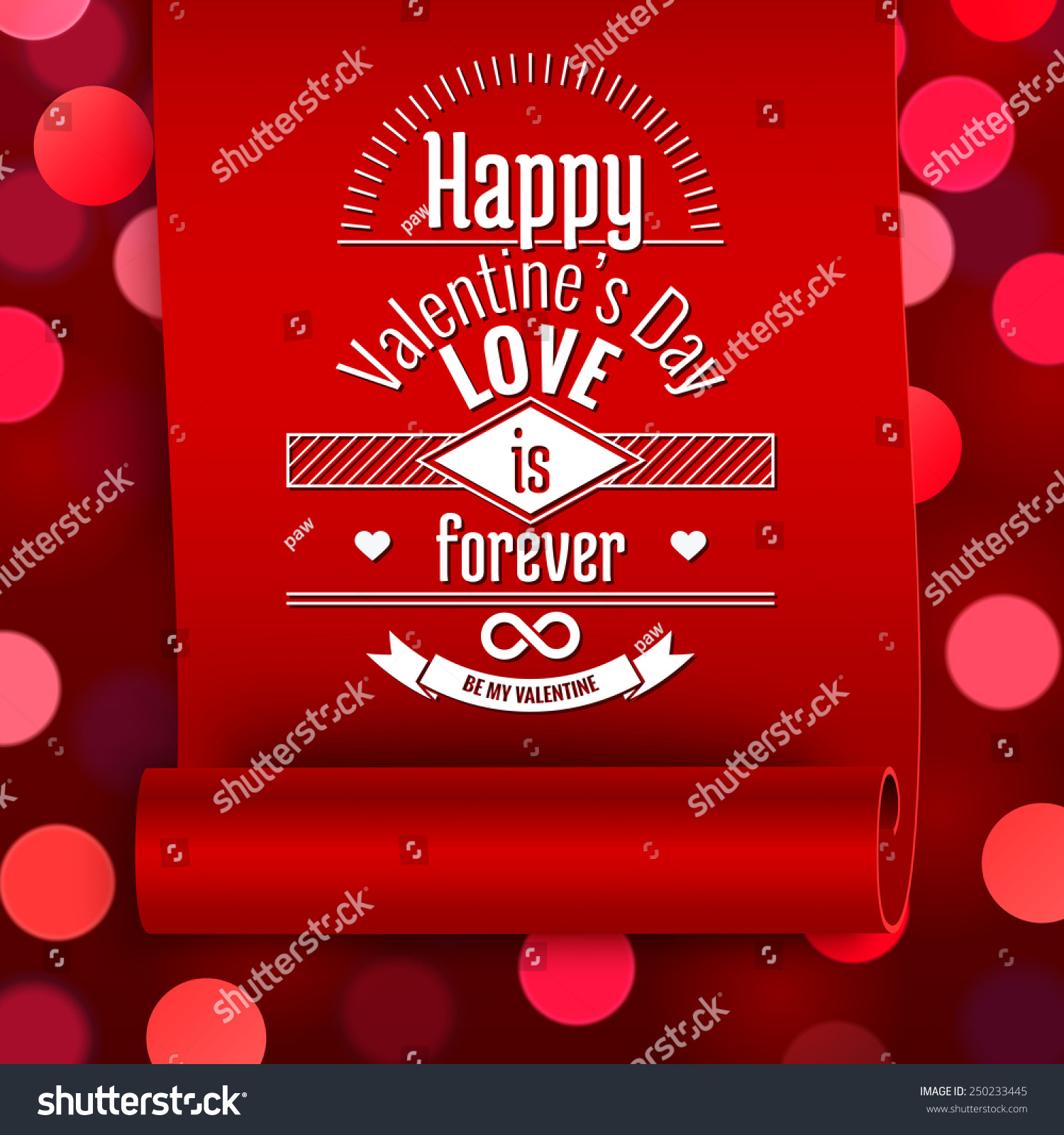 Valentine Greeting Card Love Message On Stock Vector 250233445