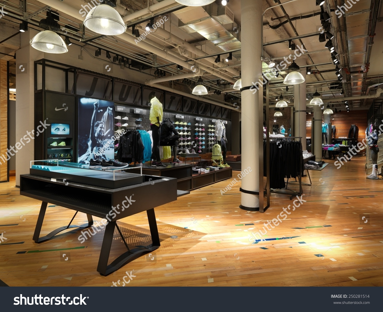 new york usa january 22 2015 nike running concept store in nyc nike is one of famous sports. Black Bedroom Furniture Sets. Home Design Ideas