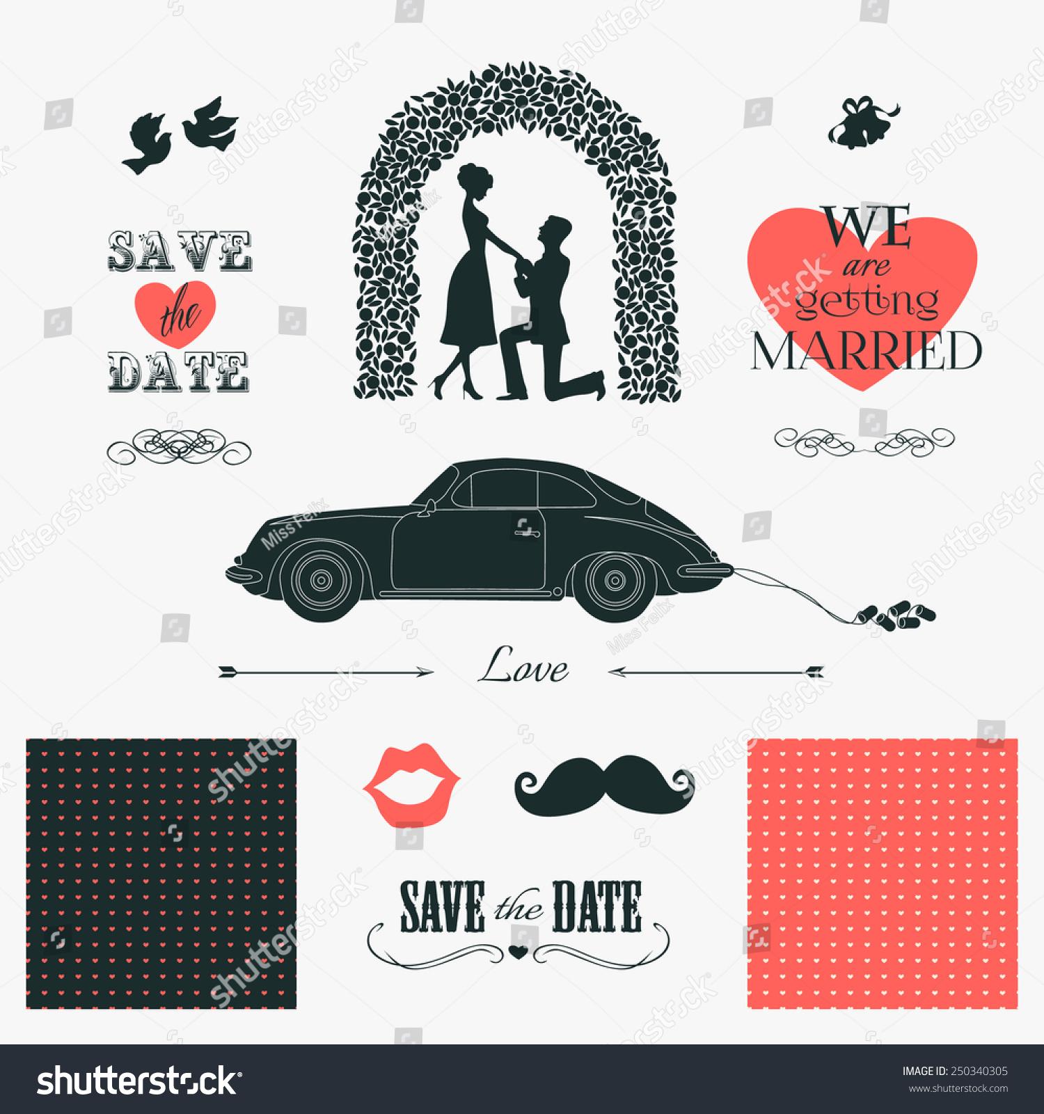 antique car wedding invitations - 28 images - set wedding invitation ...