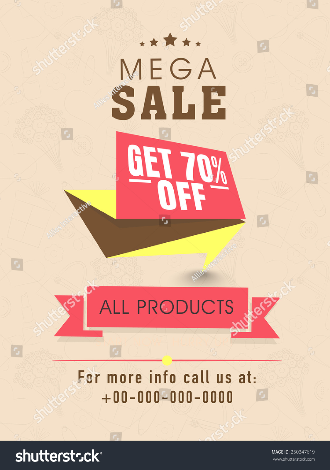 mega flyer banner template design stock vector  mega flyer banner or template design discount offer on all products