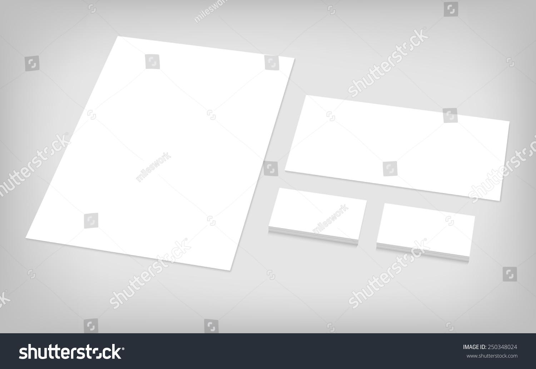 Business Cards Letterhead Envelope Stationary Branding Stock Vector ...