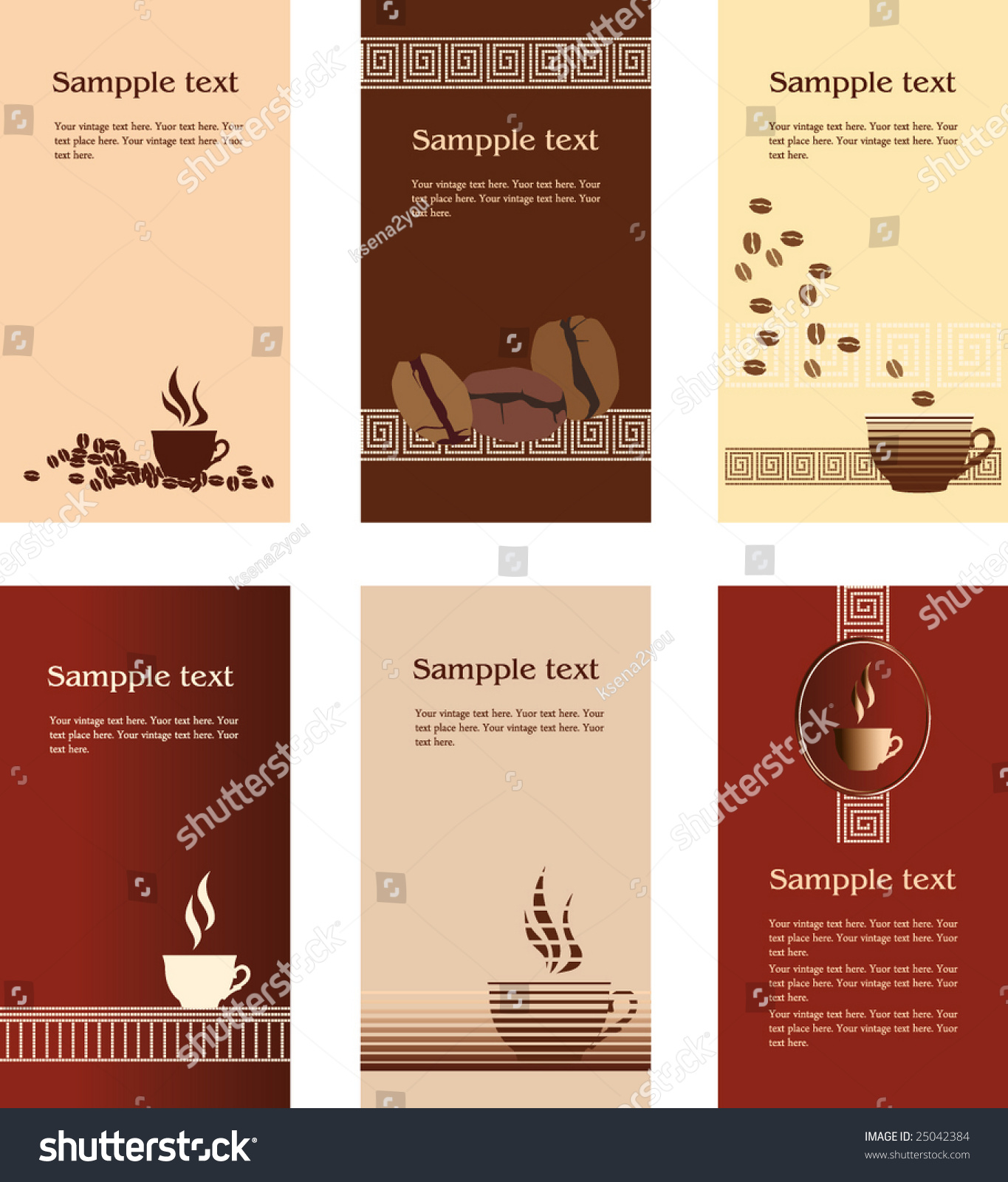 Template Designs Business Card Coffee Shop Stock Vector Royalty