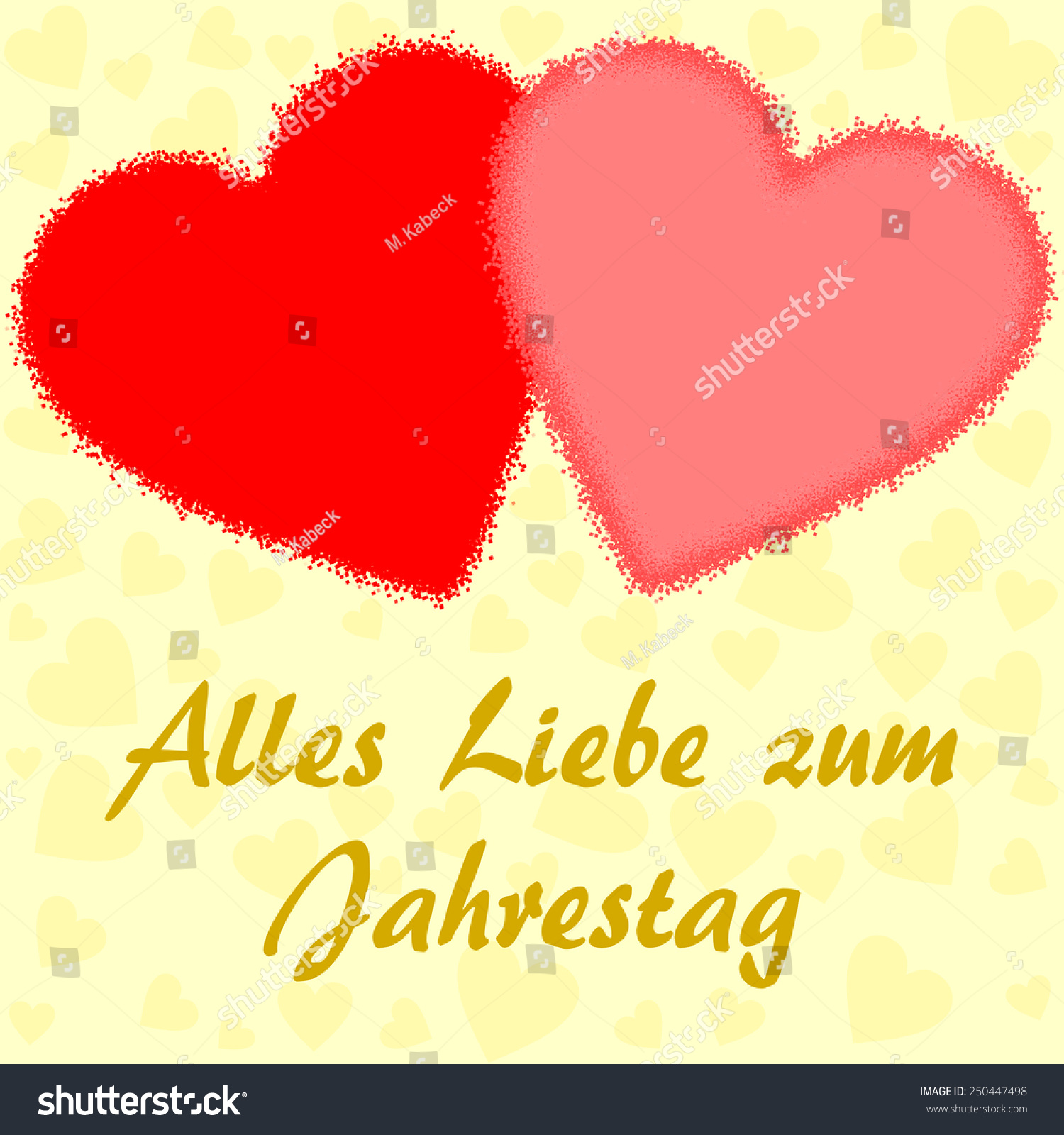 Happy Anniversary Wishes German Two Big Stock Illustration 250447498 ...