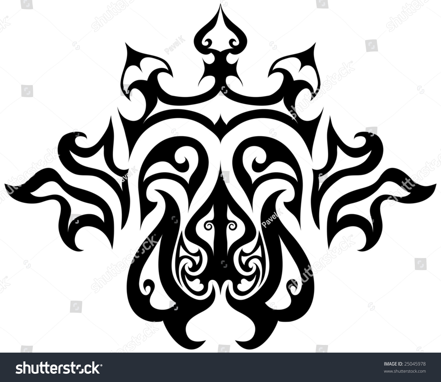 Abstract Vintage Vector Emblem Gothic Style Stock Vector