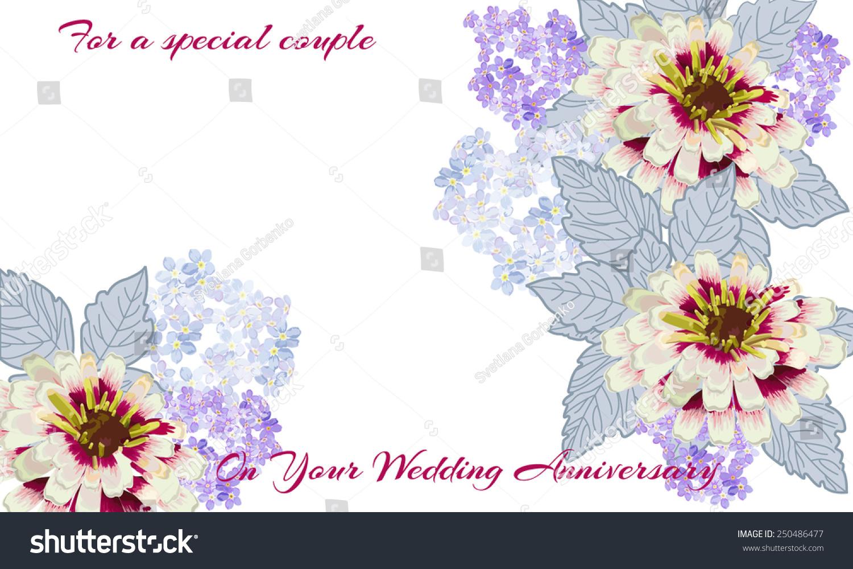 Elegant Wedding Anniversary Card Special Couple Stock Vector