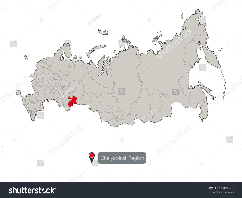 Map Russia Chelyabinsk Region Stock Vector 250493437 Shutterstock