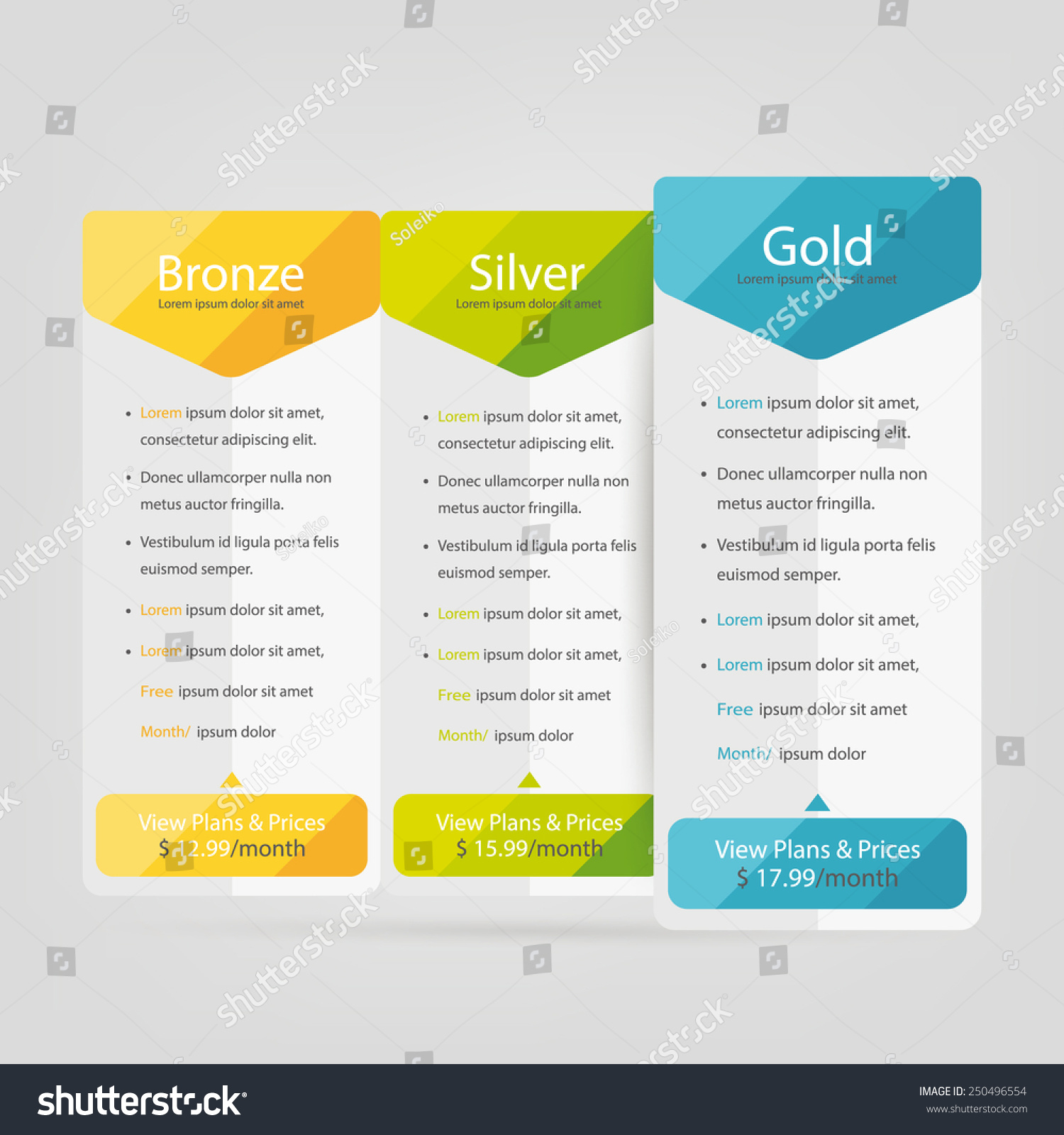 Free banner images for website - Bright Pricing Table Banner Order Box Button List And Bullet With
