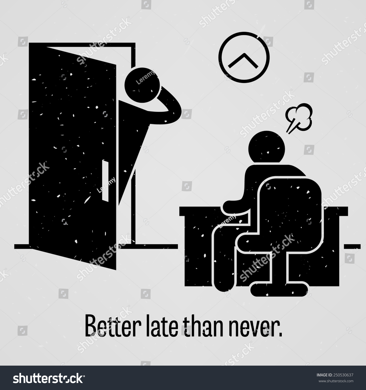 Better Late Than Never Stock Vector Illustration 250530637 ...