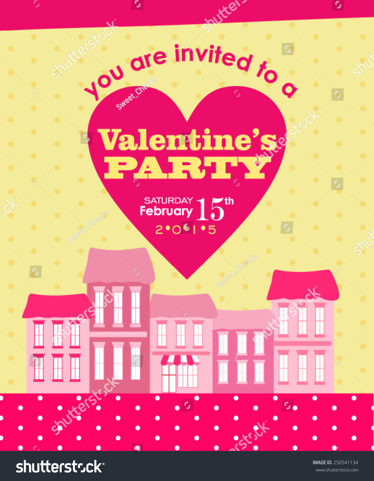 Valentines Party Invitation Stock Vector 250541134 - Shutterstock