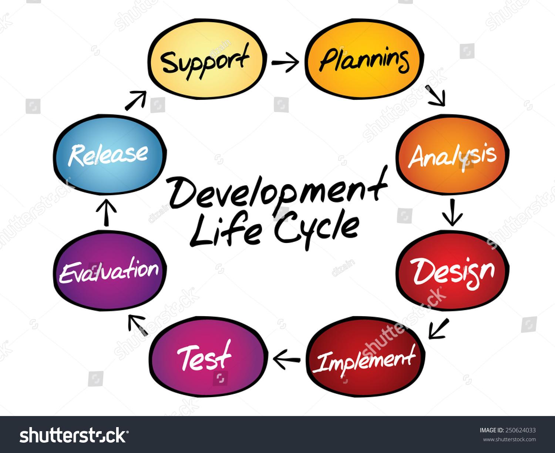 Circular flow chart life cycle development stock vector 250624033 circular flow chart of life cycle development process business concept nvjuhfo Images