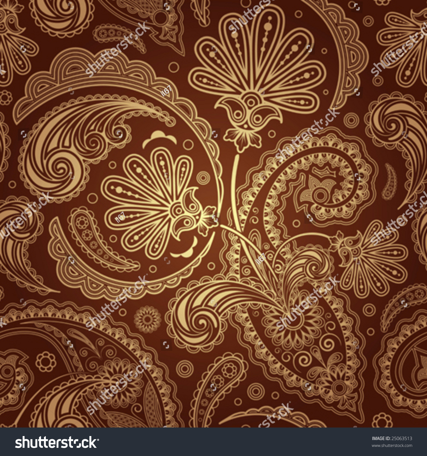 Paisley Seamless Background Stock Vector 25063513 ...