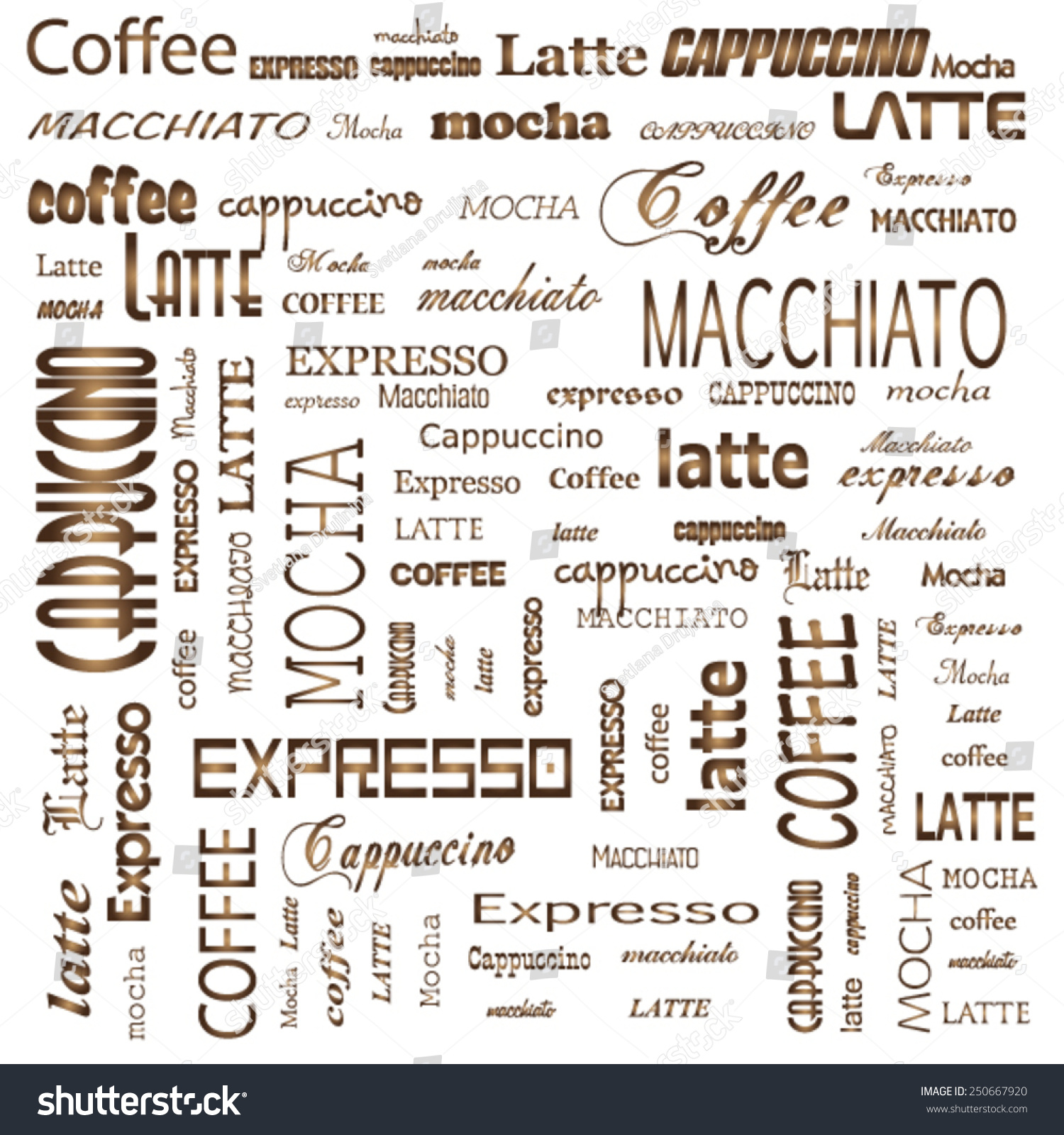 H tag background image - Seamless Background Pattern Coffee Espresso Cappuccino Macchiato Word Cloud Tag Cloud Text Business Concept Word Collage Vector Illustration