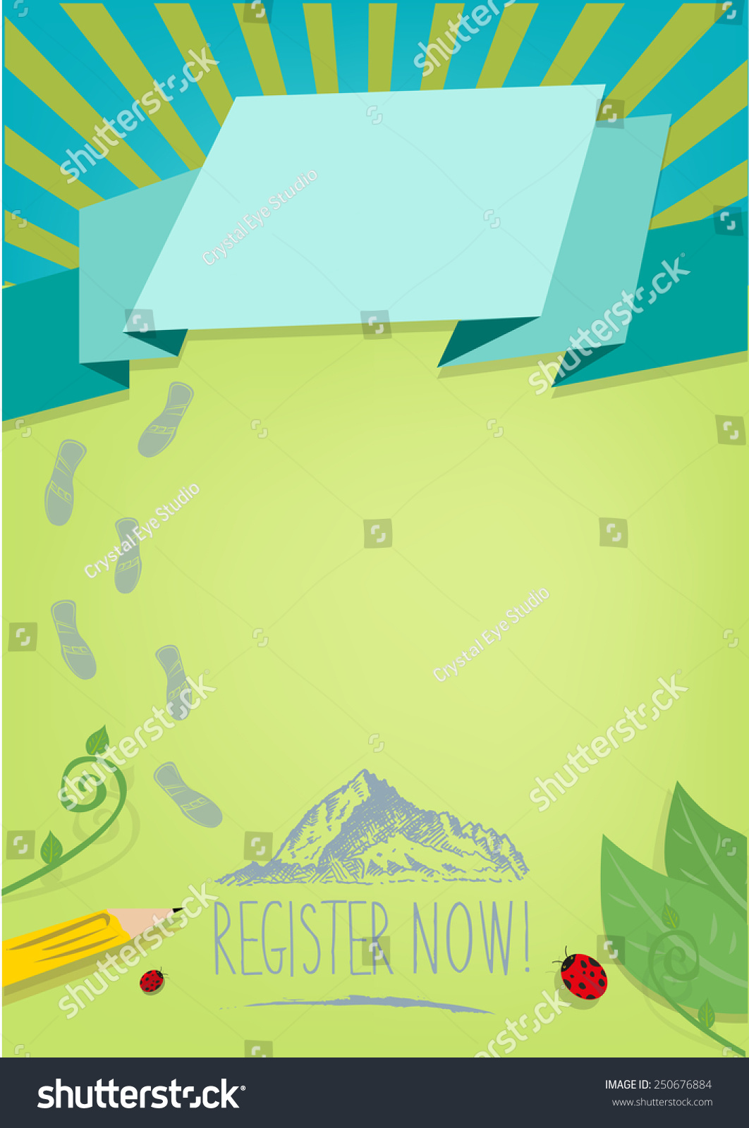 hiking running registration design background posters stock vector