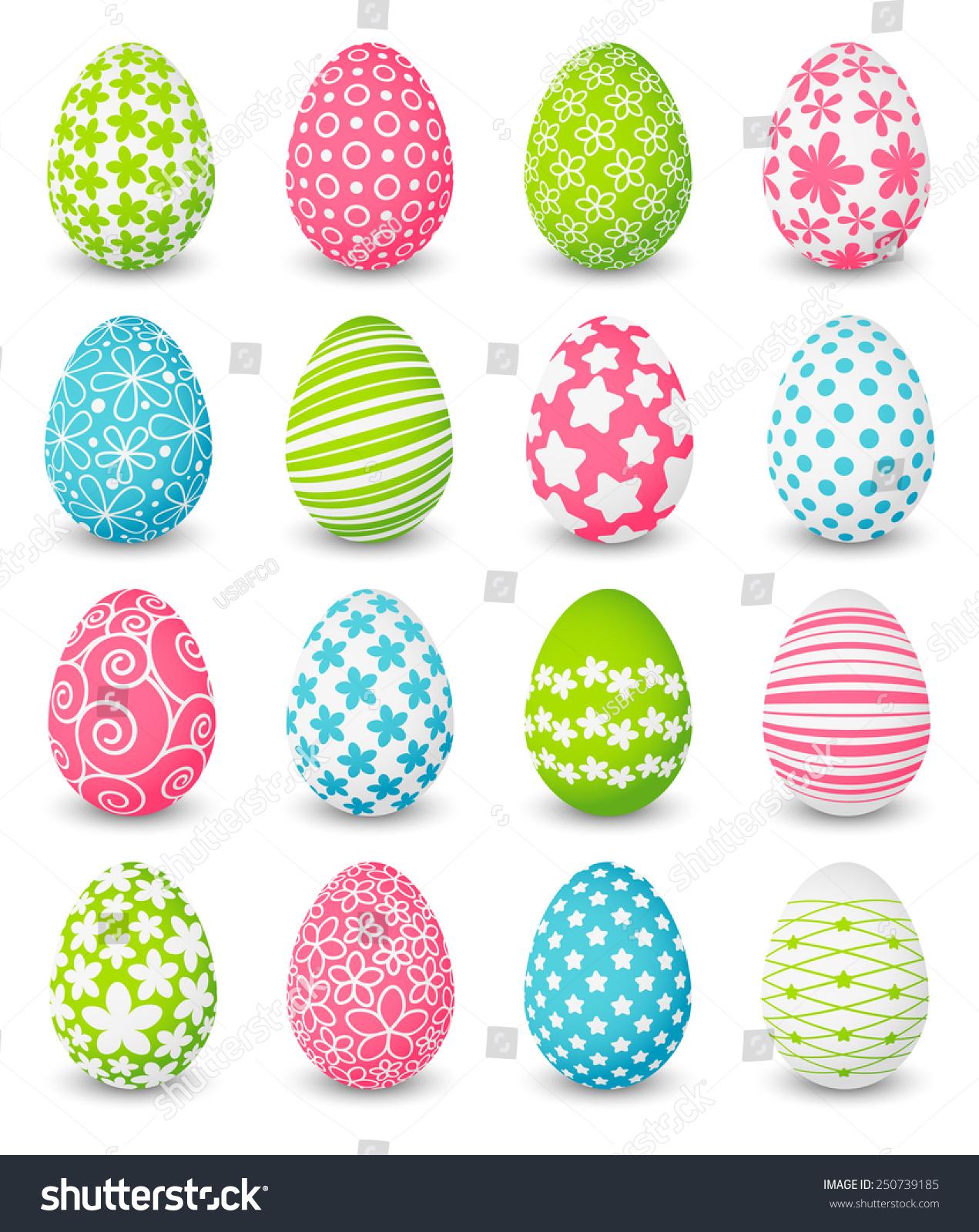 set color easter eggs stock vector 250739185 shutterstock