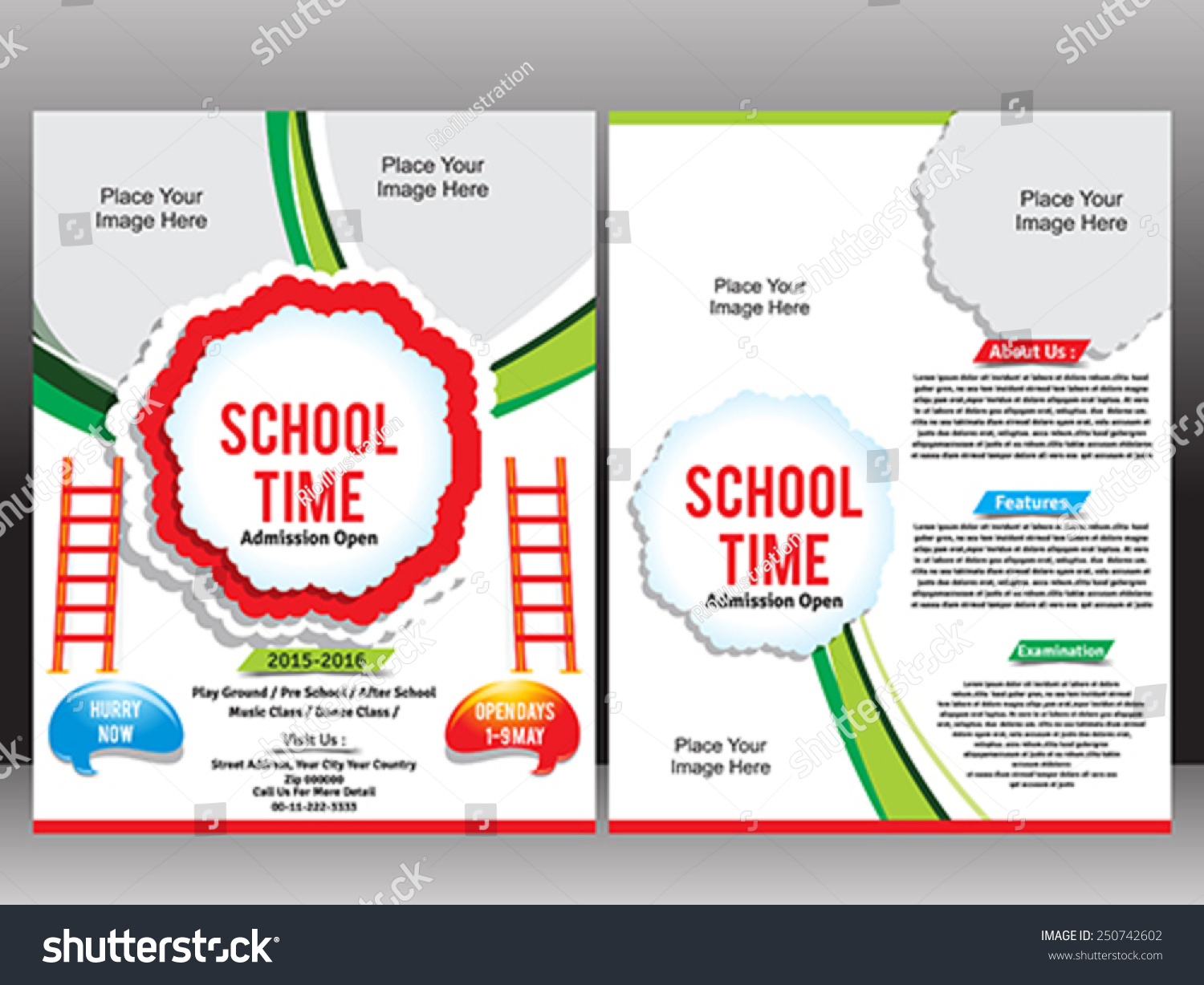 school admission flyer template vector illustration stock vector school admission flyer template vector illustration
