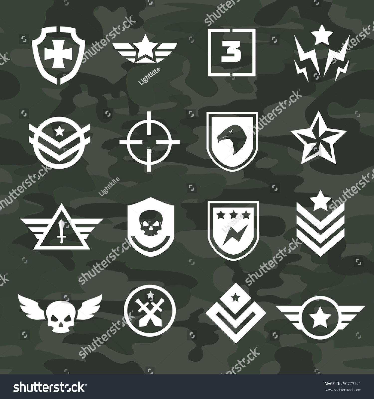 Military Symbol Icons Logos Special Forces Stock Vector Hd Royalty