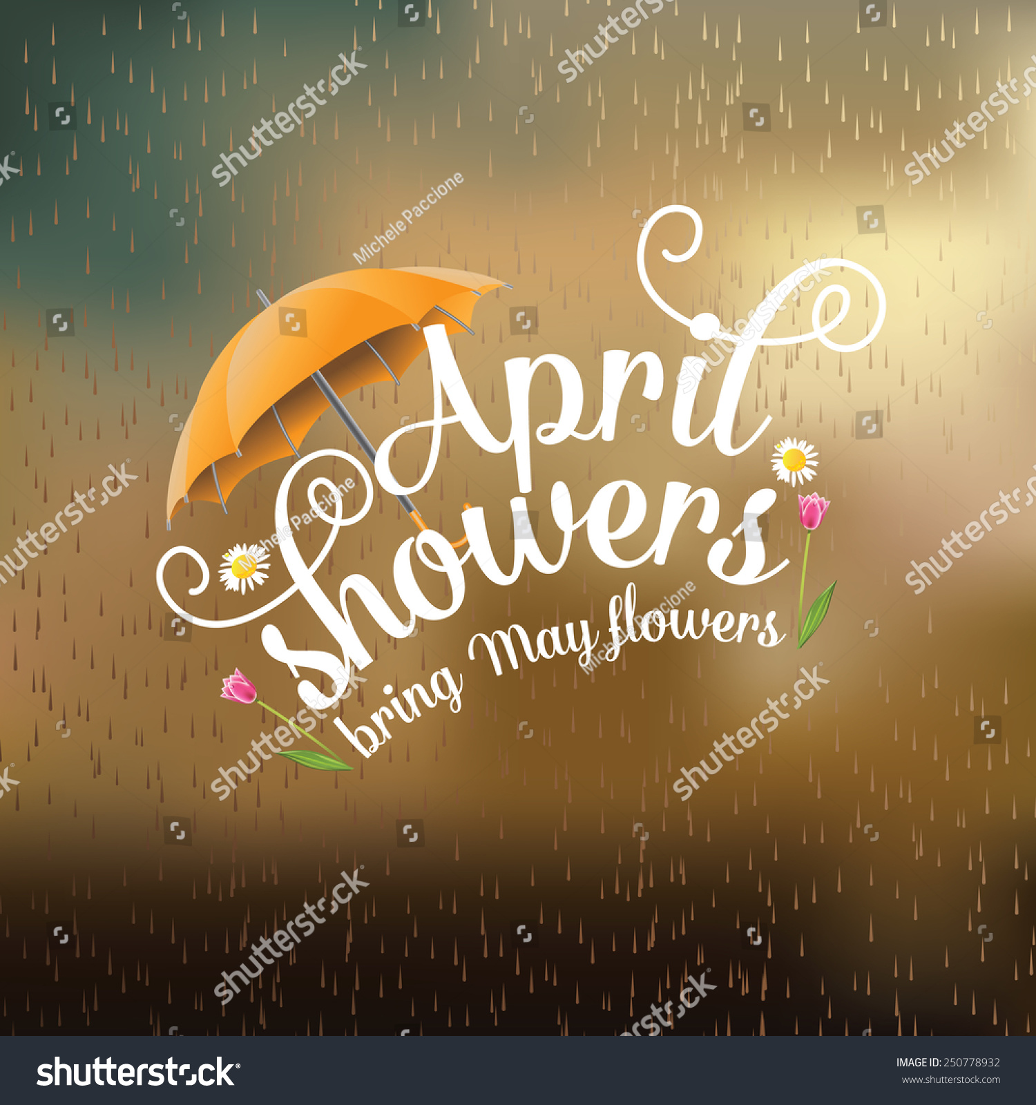 April Showers Bring May Flowers Design Stock Vector Shutterstock