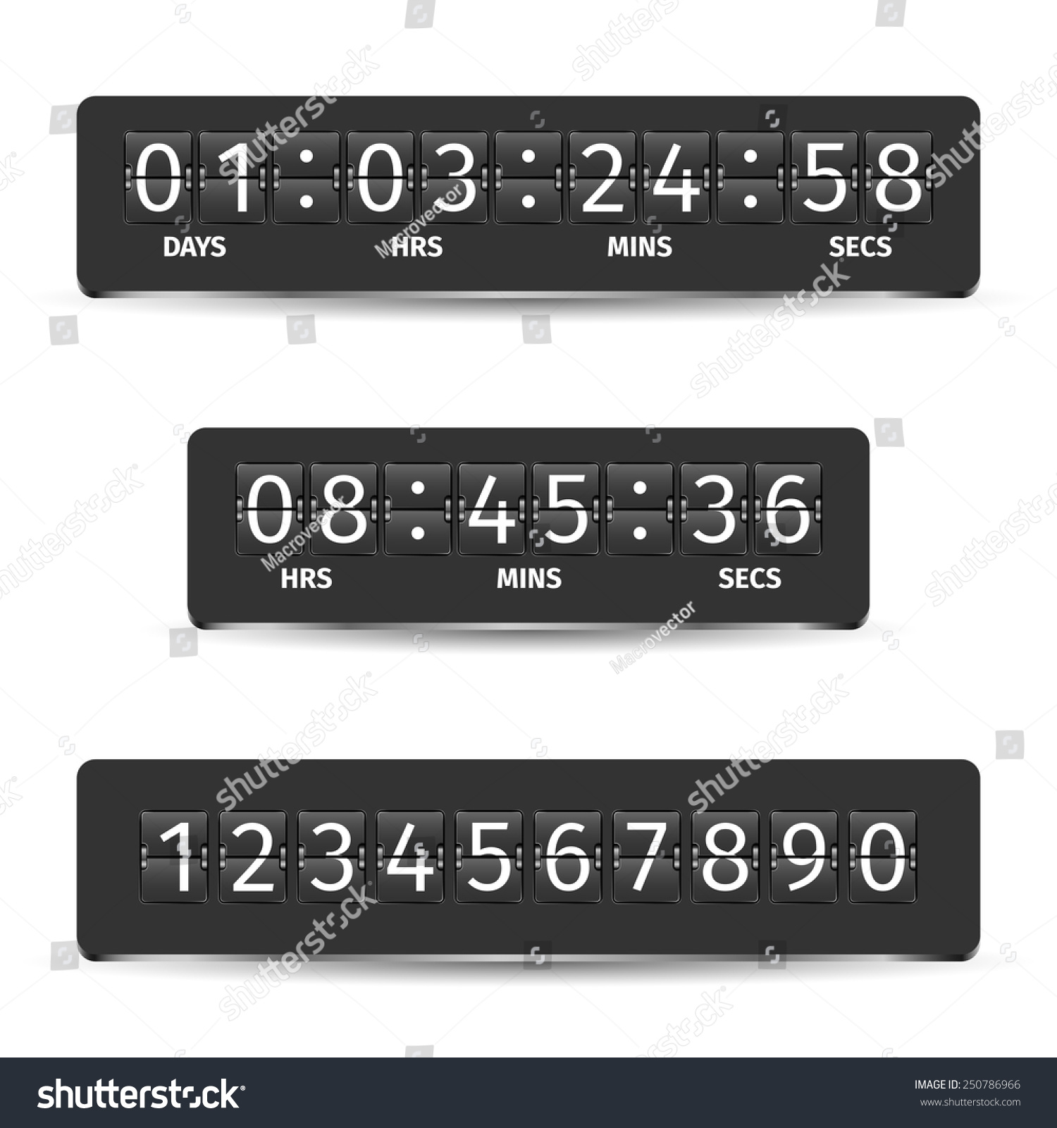 Countdown Clock Timer Analog Display Mechanical Stock ...