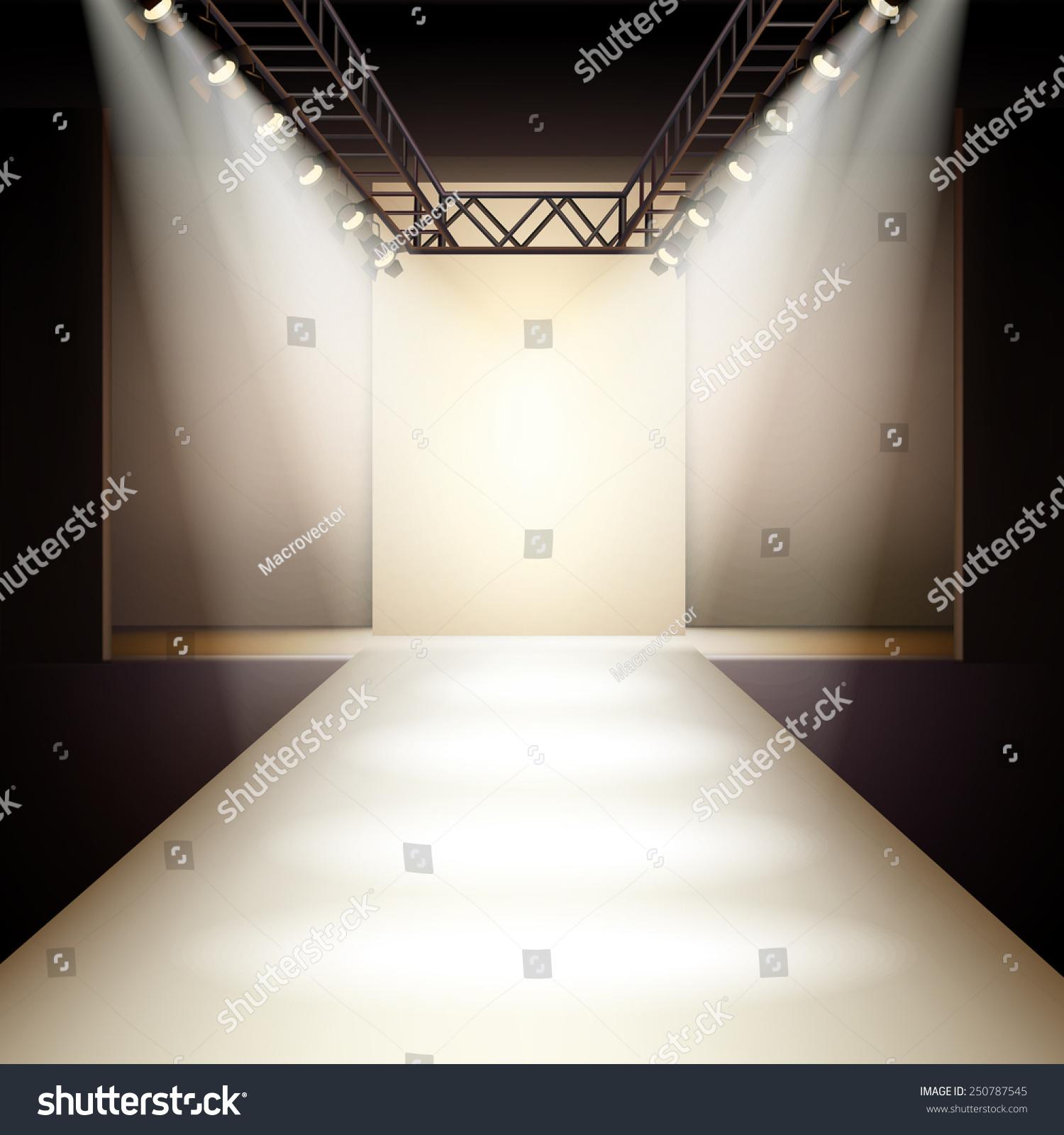 empty fashion show runway stage wwwimgkidcom the