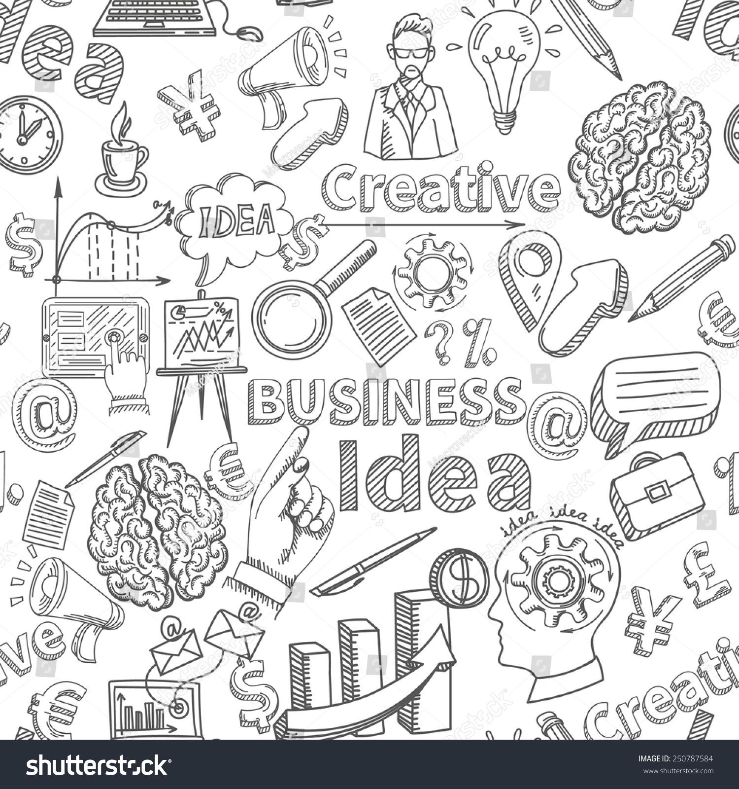 Creative Background Seamless Pattern Business Idea Stock Vector ...