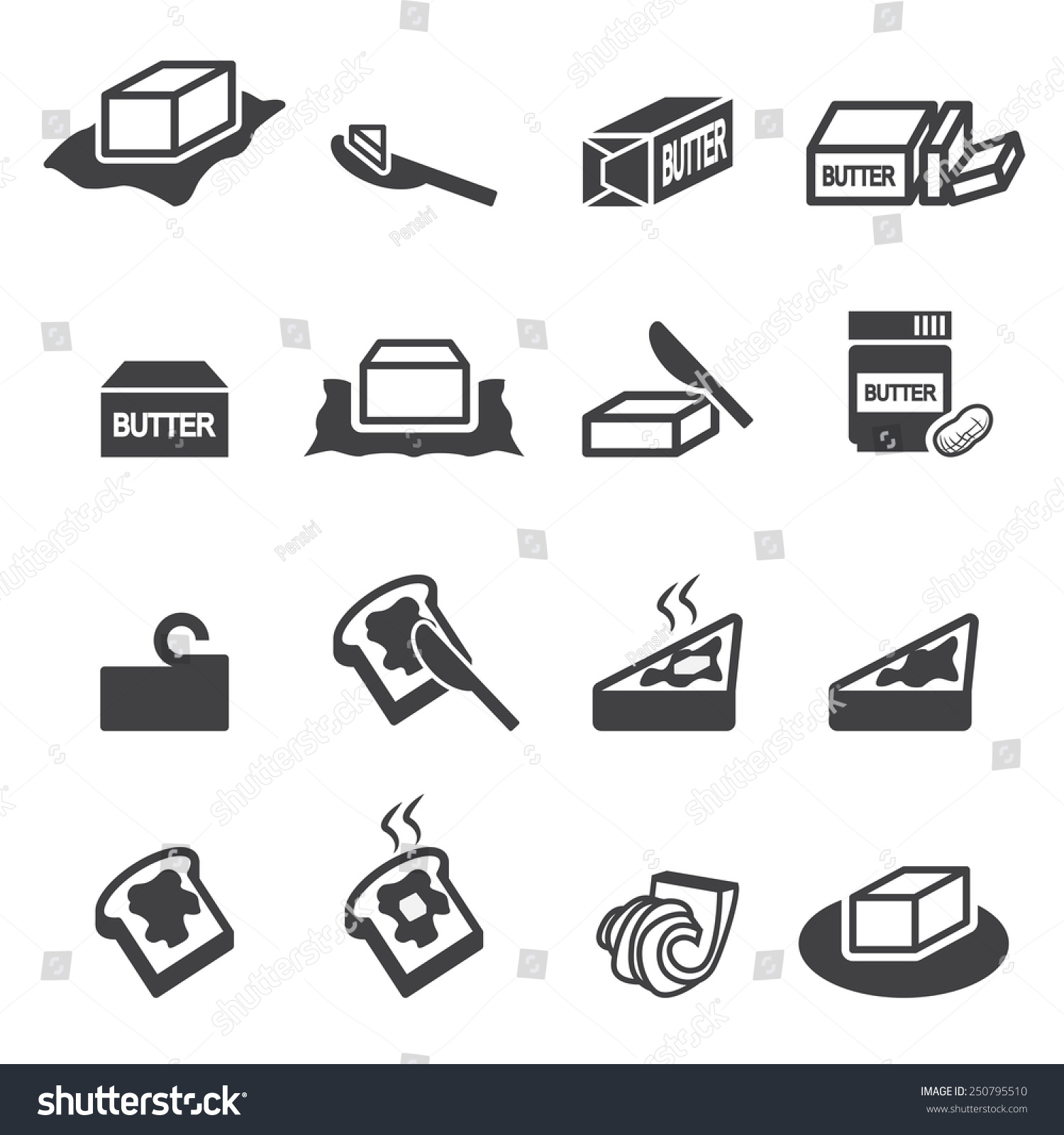 Butter Icon Stock Vector 250795510 : Shutterstock