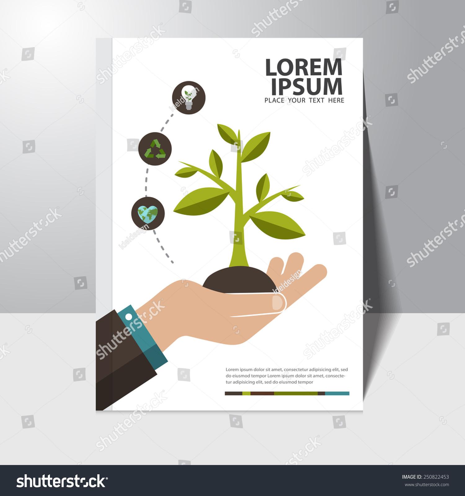 Book Cover Design Near Me : Vector ecology concept book cover design stock