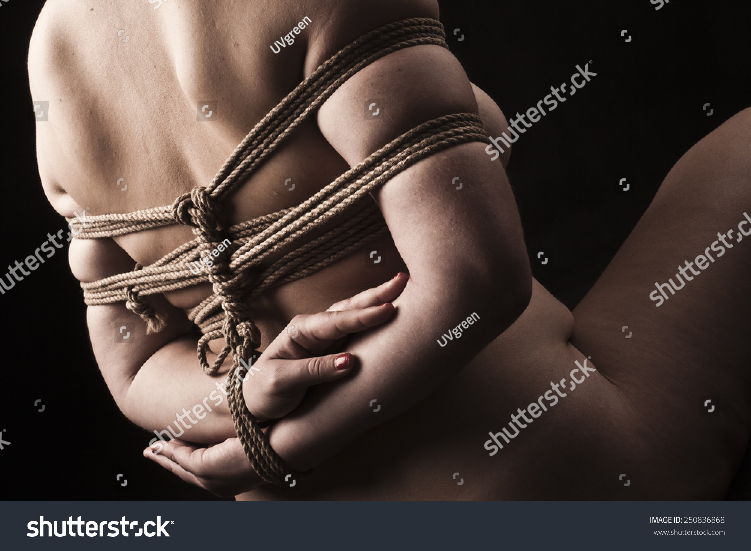 Young Submissive Woman In Japanese Bondage Takate Kote Bdsm Theme