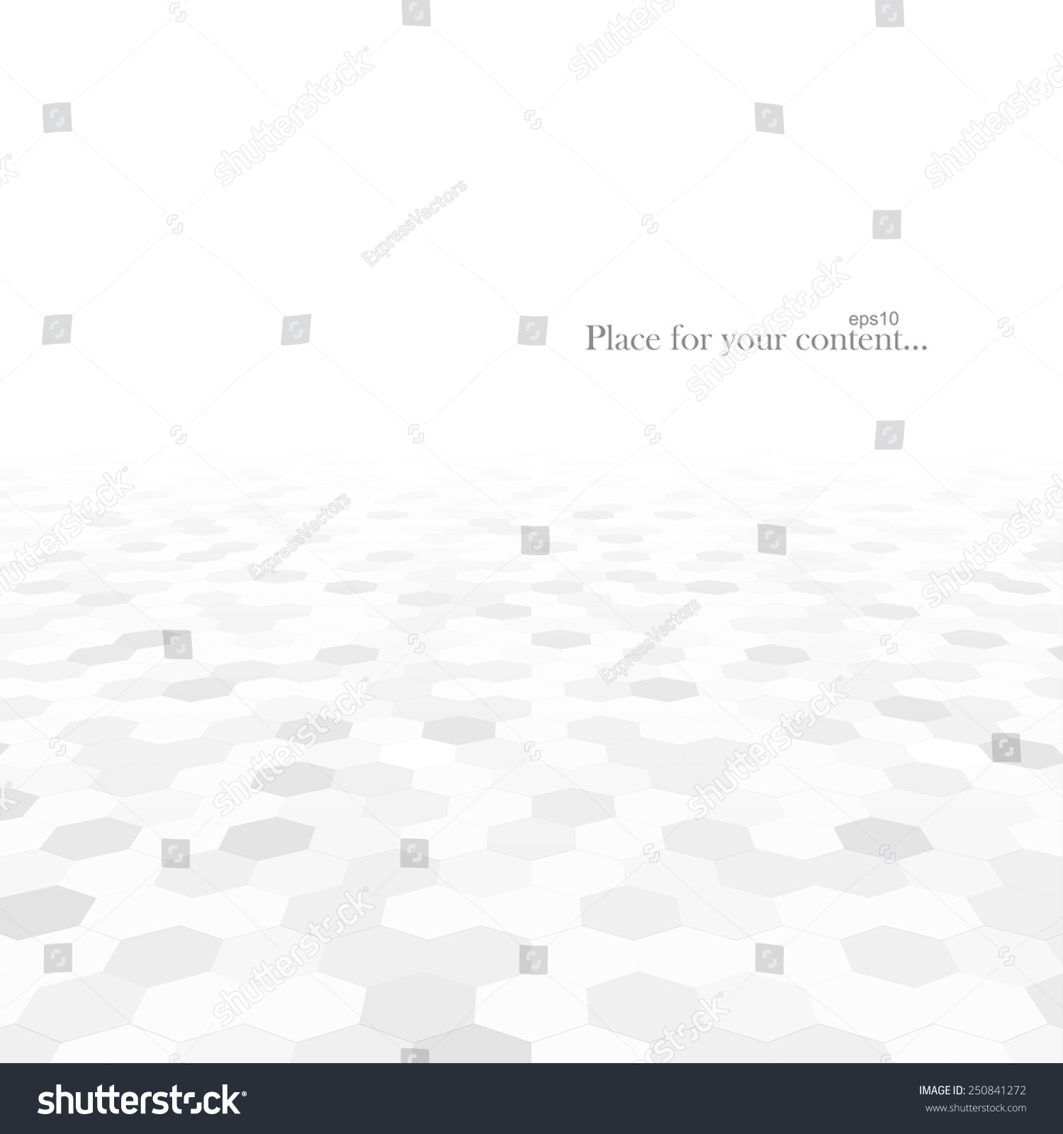 Abstract background with white shapes. White and grey texture. Vector illustration - eps10 #250841272