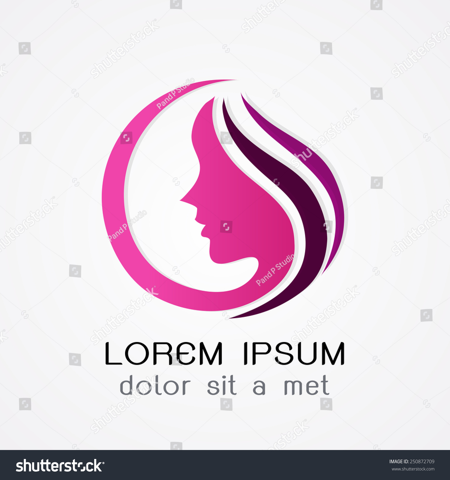 Logo Woman Silhouette, Head, Face Logo Isolated. Use For ...