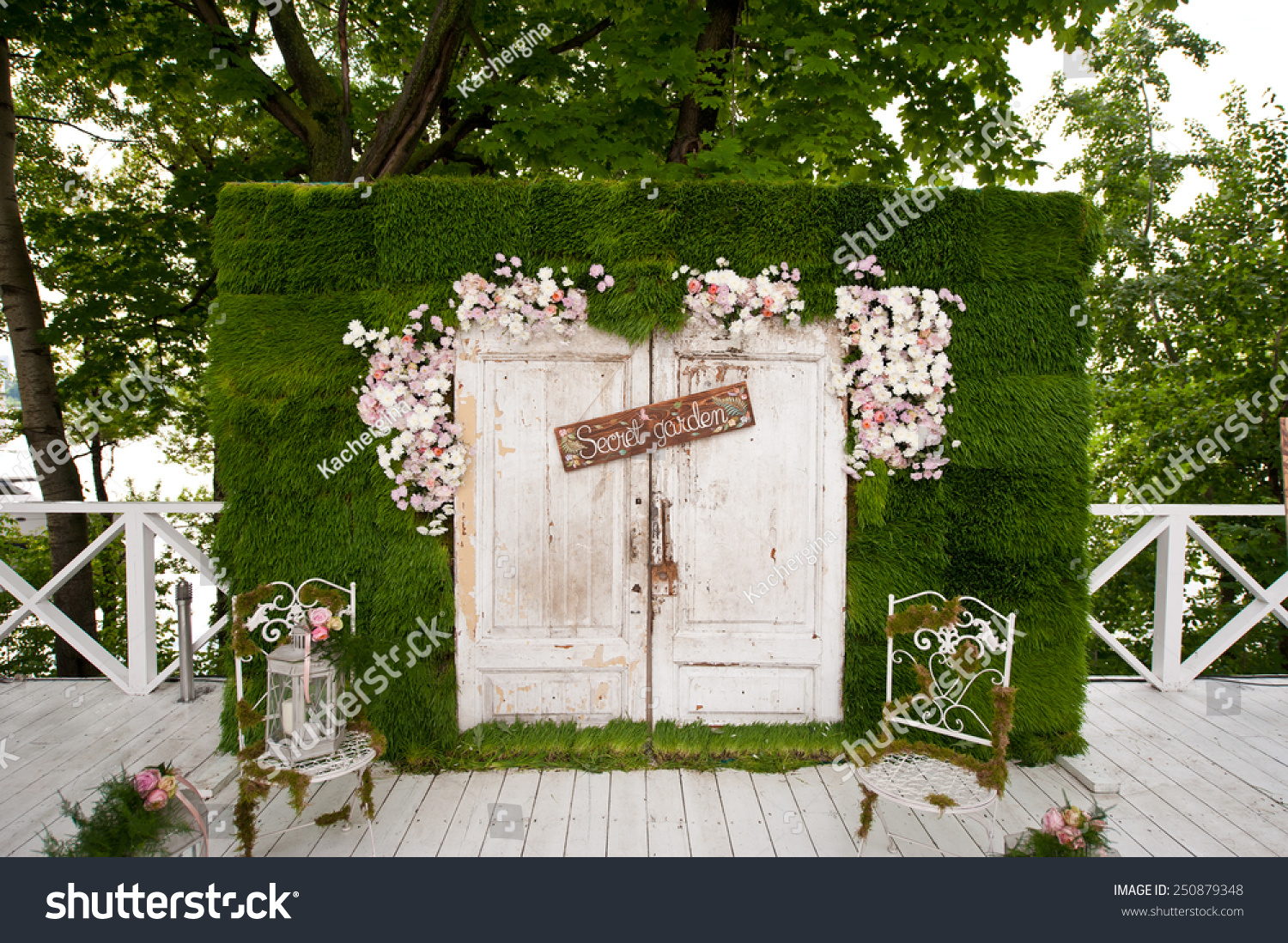 royalty free wedding photo booth decoration 250879348 stock photo. Black Bedroom Furniture Sets. Home Design Ideas