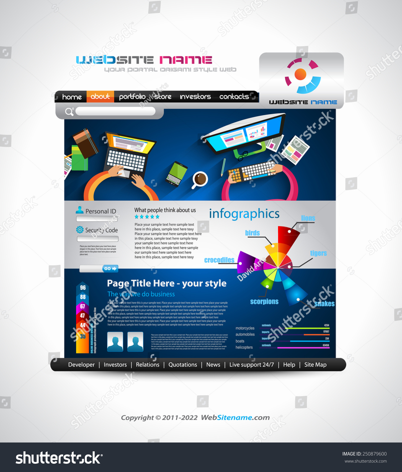 Flat style website template elegant design stock vector 2018 flat style website template elegant design for business layouts template with a lot of design cheaphphosting Gallery