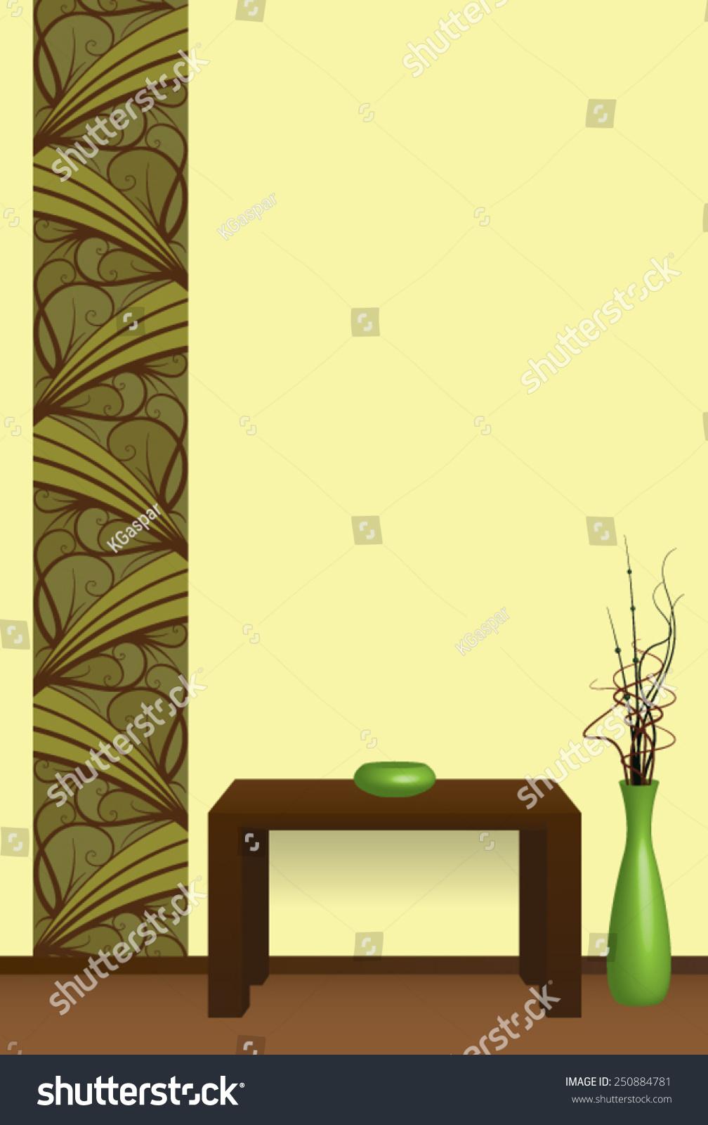 Interior Design Wall Decoration Stock Vector 250884781 - Shutterstock