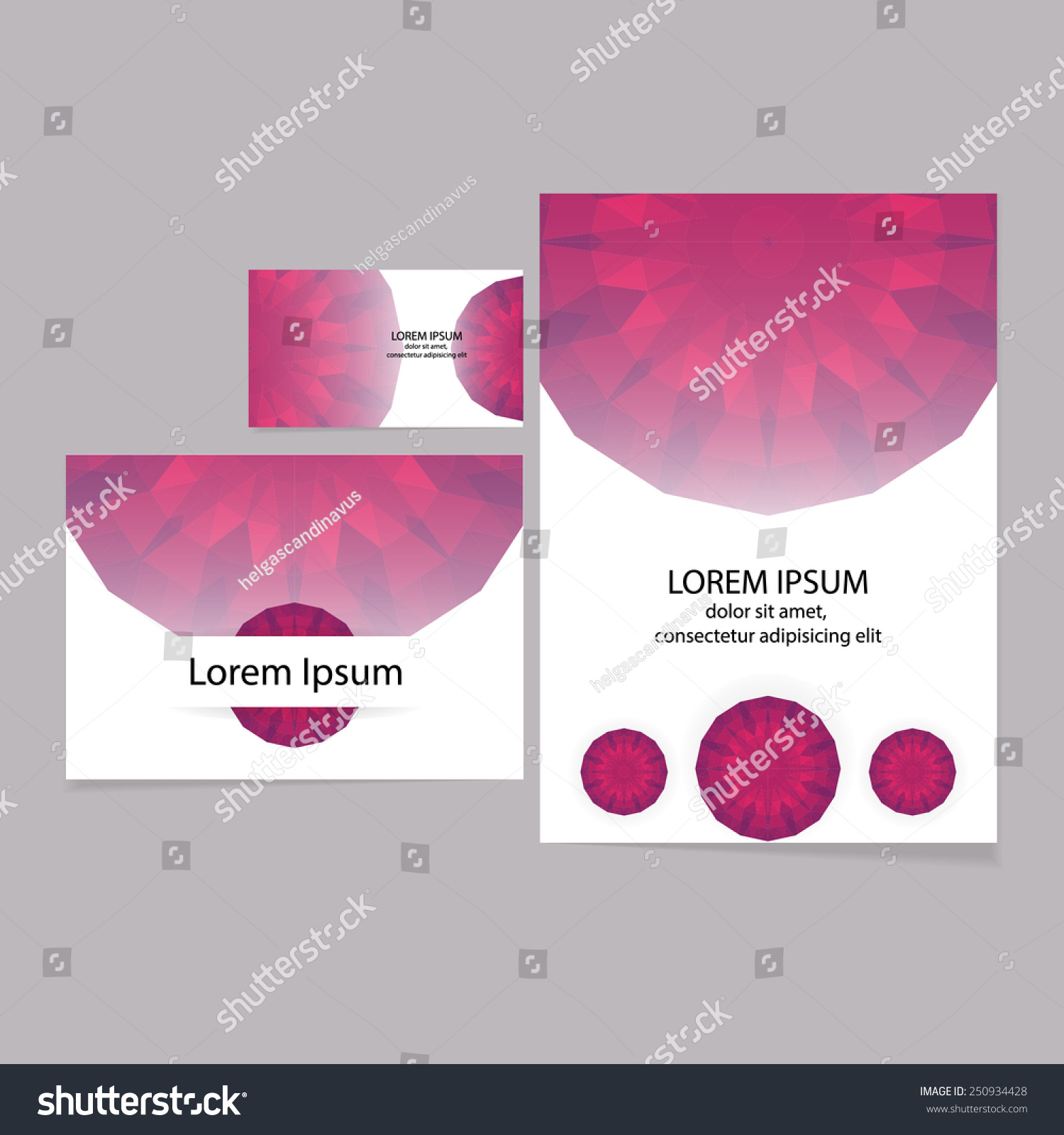 Set Greeting Cards Business Cards Flyer Stock Vector HD (Royalty ...