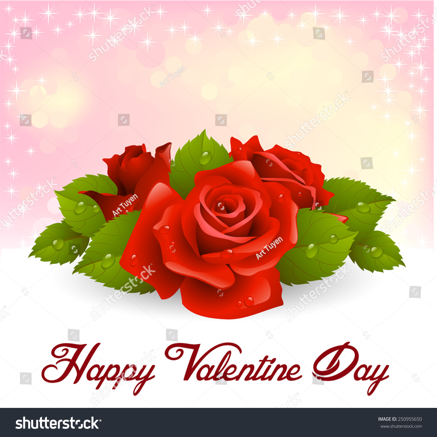 Valentines day vector beautiful flowers stock vector 250955650 valentines day vector of beautiful flowers izmirmasajfo