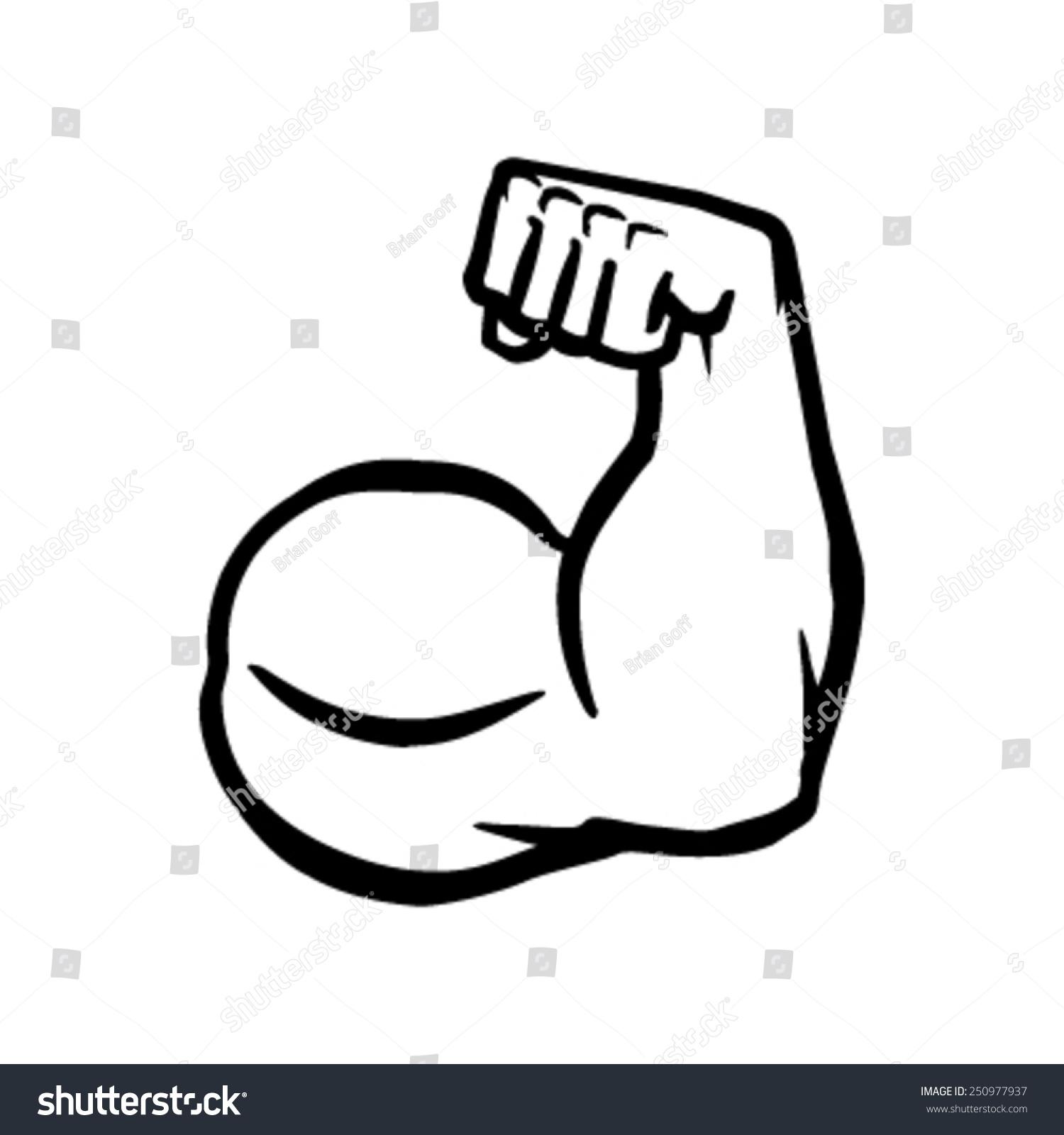 Strong Bodybuilder Bic... Flexing Bicep Drawing