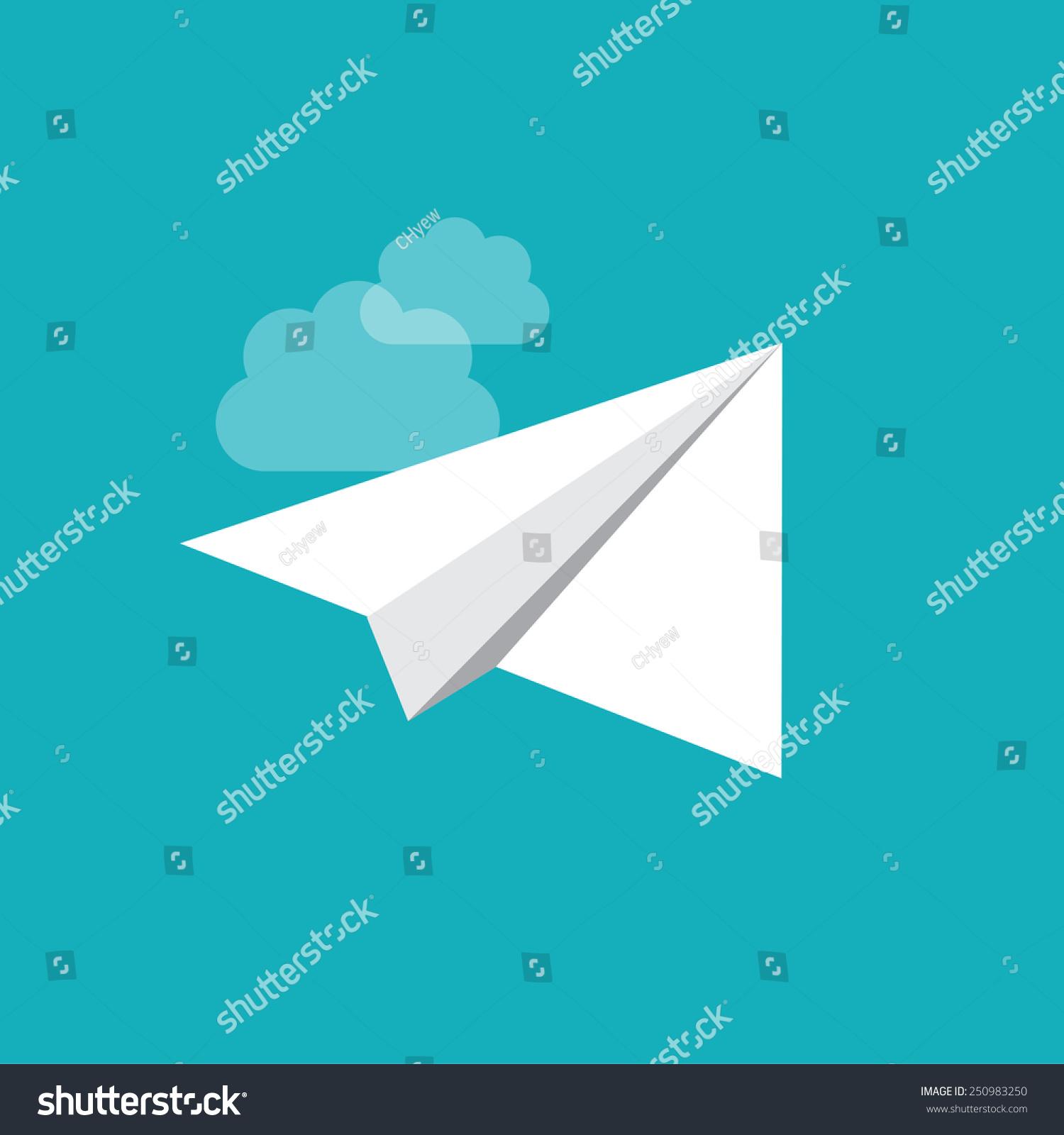 Vector Origami Plane Stock Vector 250983250 - Shutterstock
