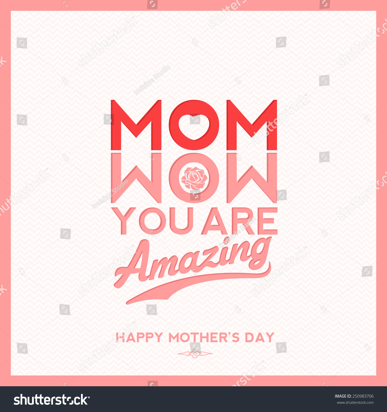 Wow You Re Amazing: Mom Wow You Are Amazing, Creative Typographical Background