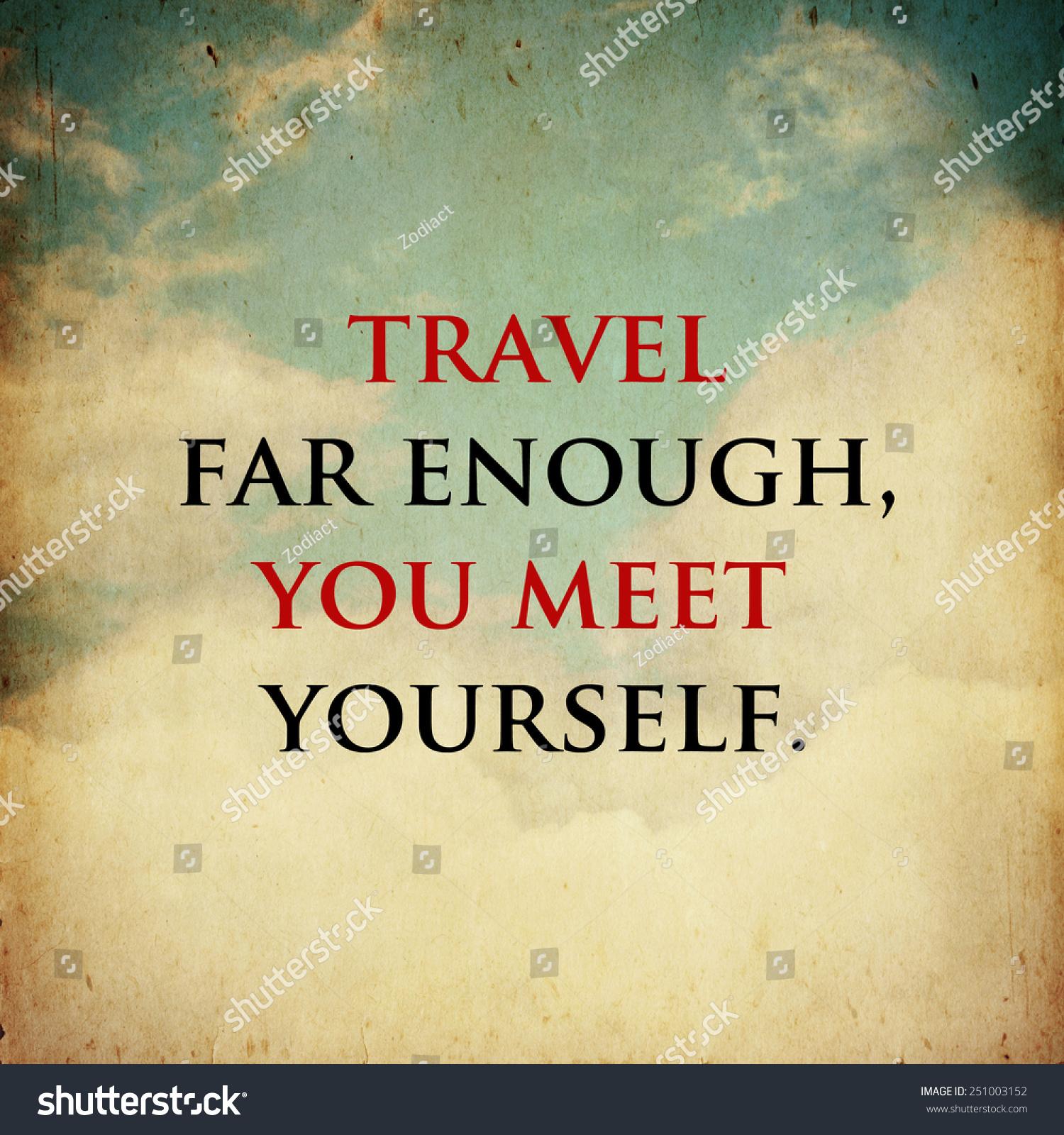 Inspirational Motivational Life Quote On Vintage Stock Illustration