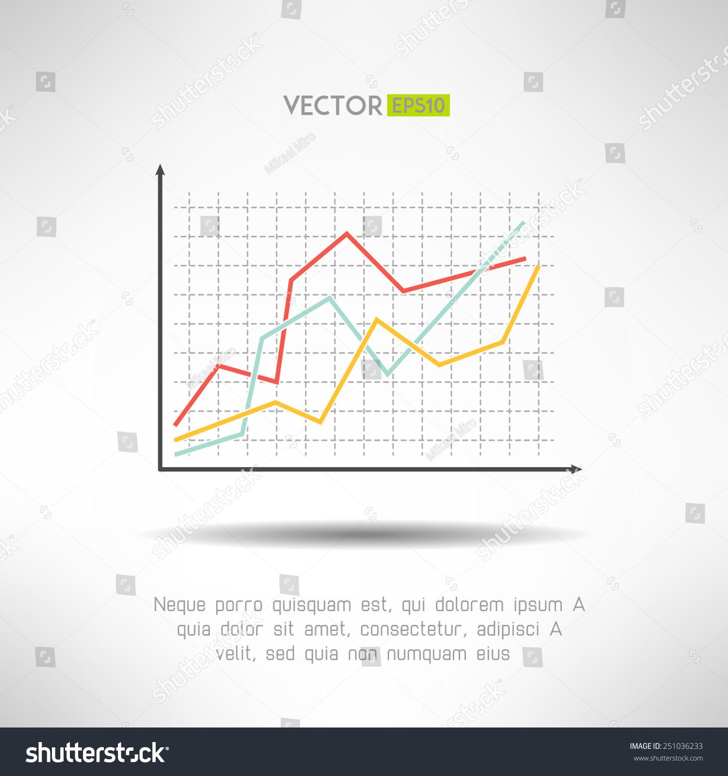 economic finance graphics chart icon market stock vector royalty