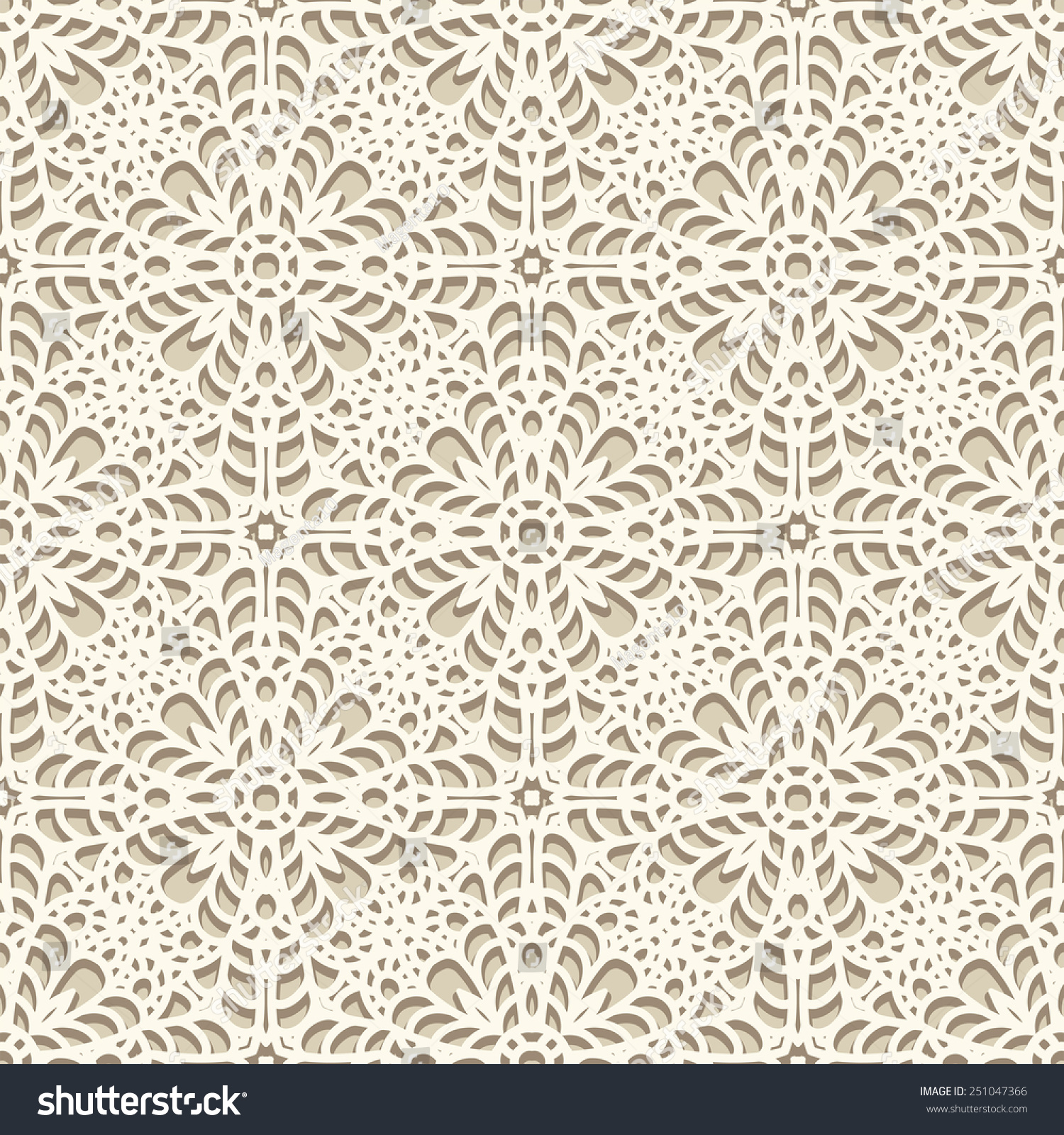 Crochet Patterns Vector : Seamless Lace Pattern, Vector Knitted Or Crochet Texture ...